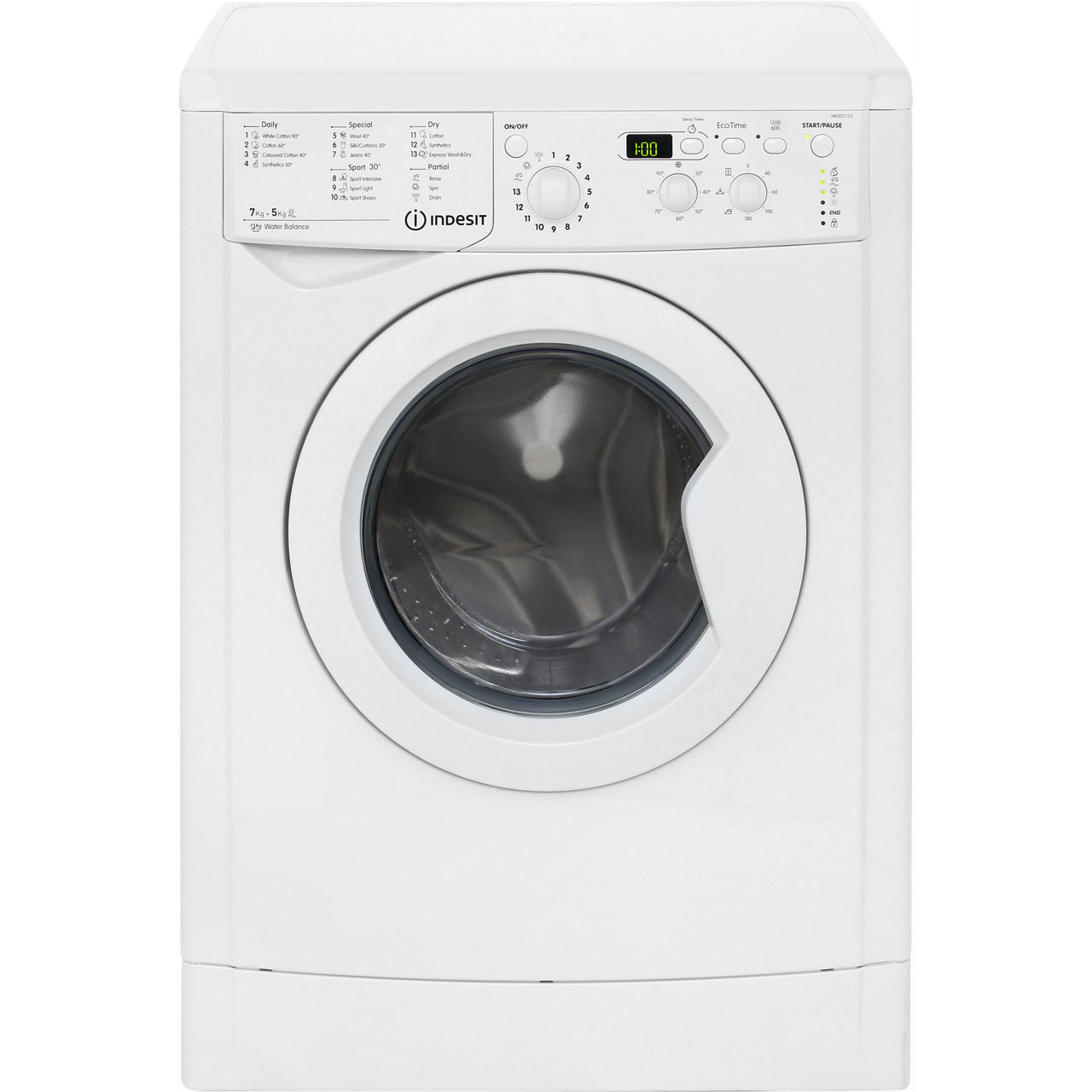 indesit advance iwdd7123 7kg 5kg washer dryer with 1200 rpm white b rated. Black Bedroom Furniture Sets. Home Design Ideas