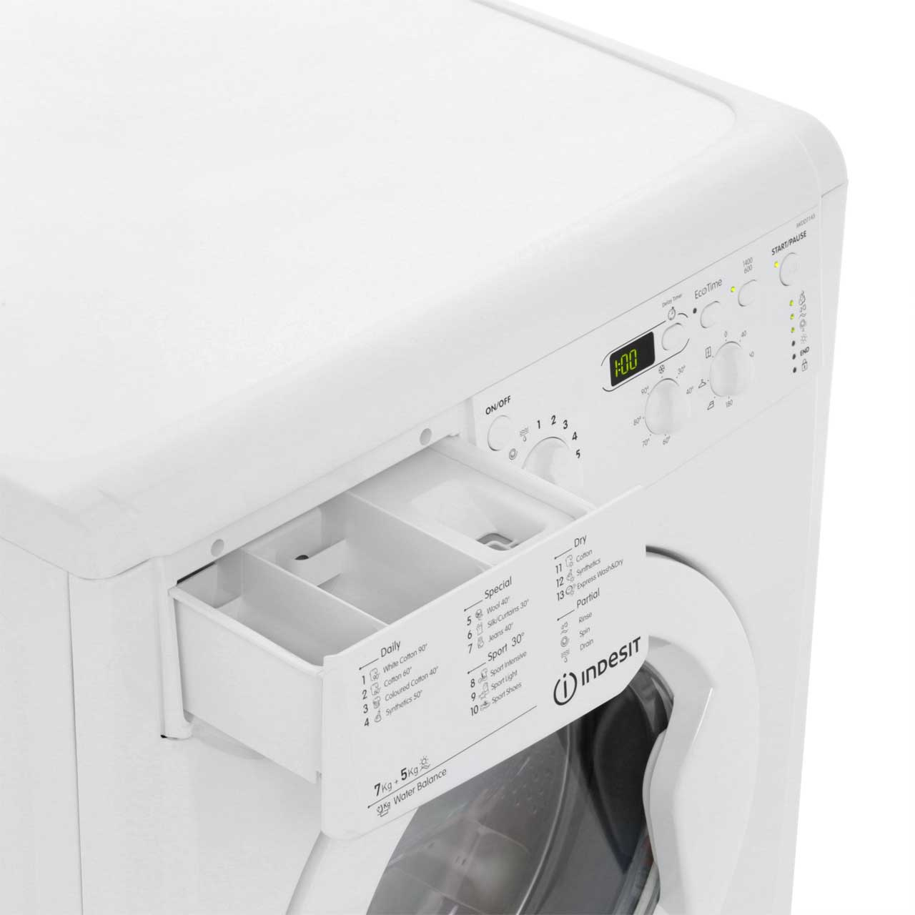 IWDD7143_WH   Indesit Washer Dryer   White   ao.com