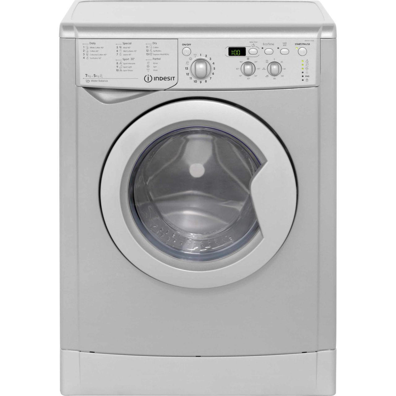 indesit eco time iwdd7143s 7kg 5kg washer dryer with. Black Bedroom Furniture Sets. Home Design Ideas