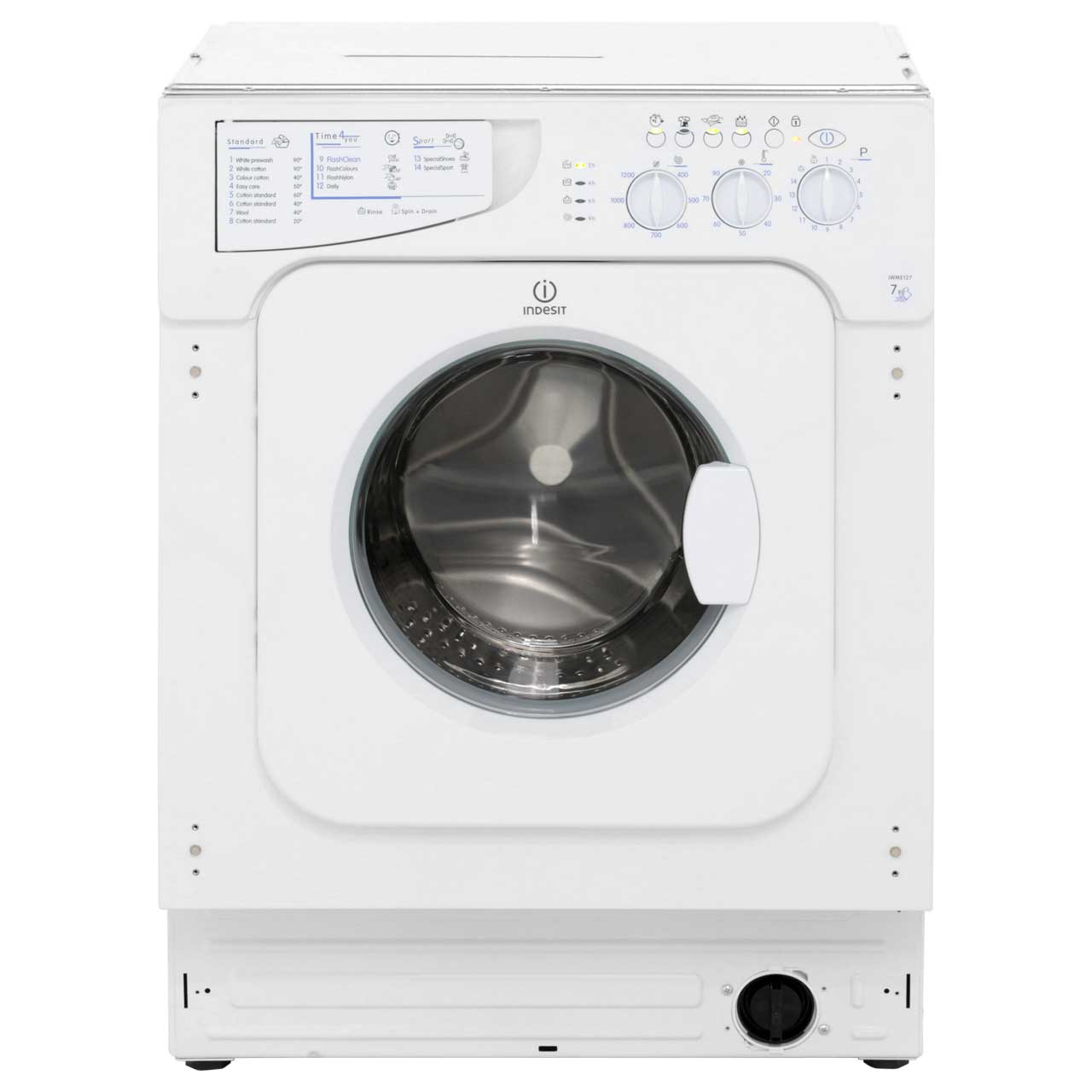 Indesit IWME127 Integrated 7Kg Washing Machine with 1200 rpm
