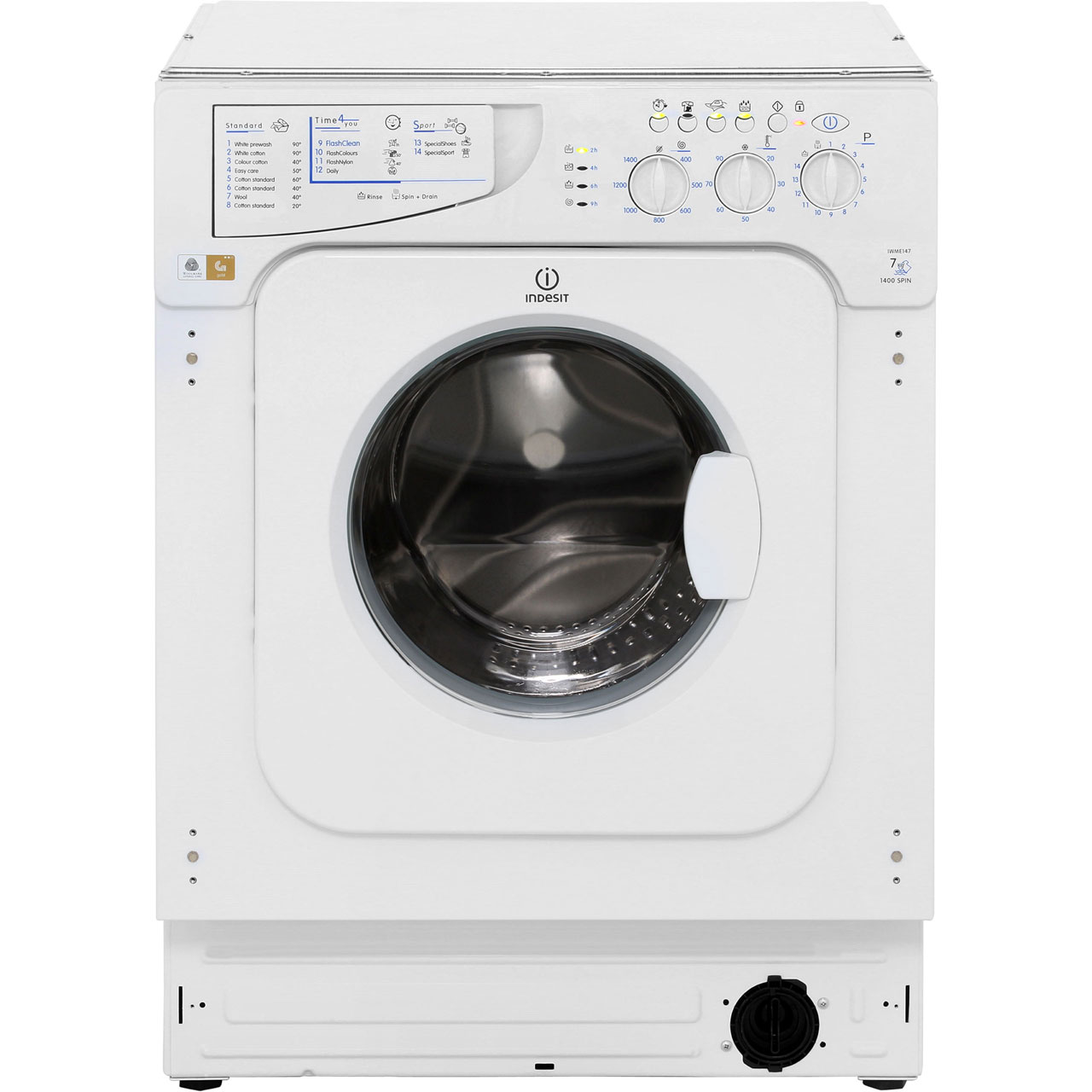 Indesit IWME147 Integrated Washing Machine in White