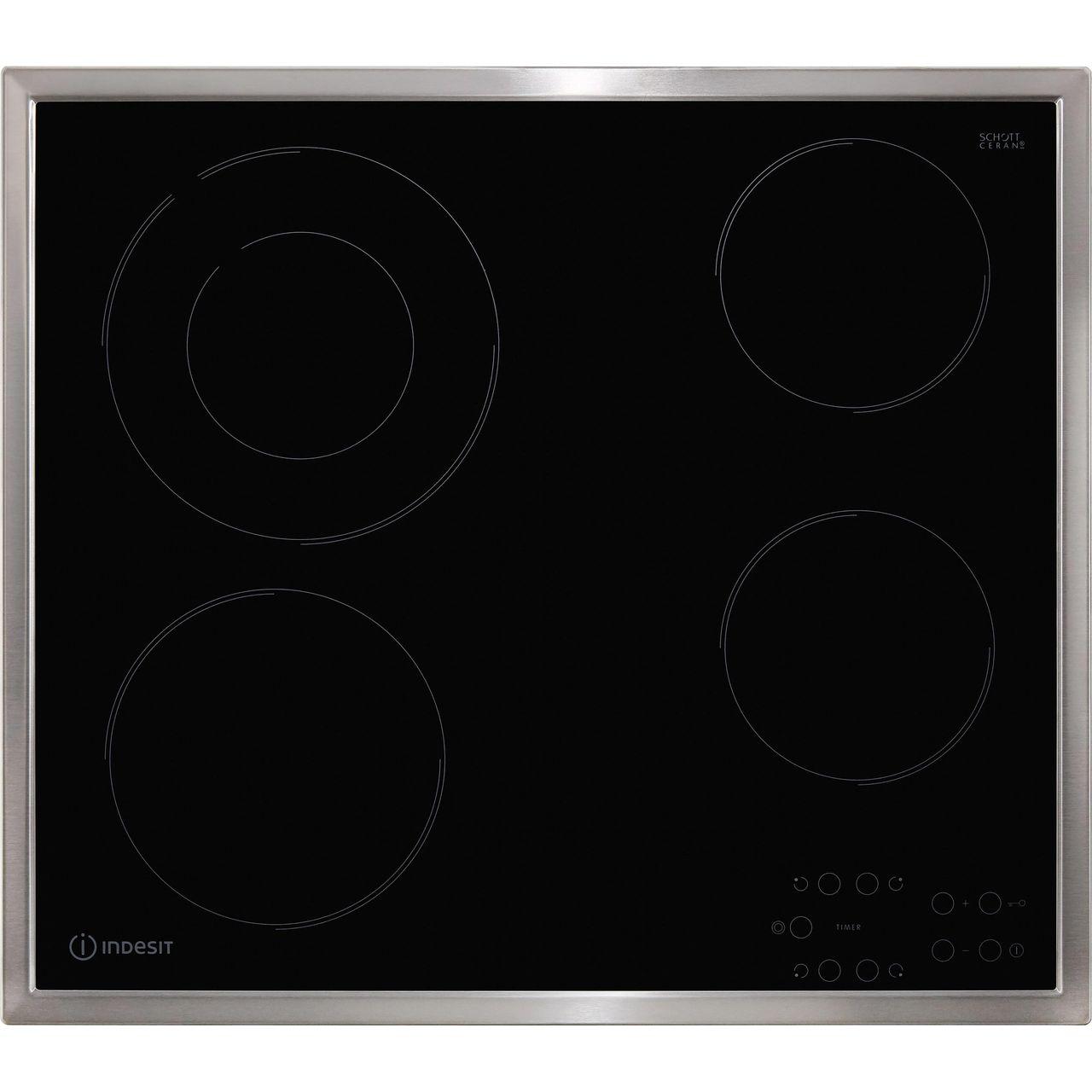Indesit Ri261x 58cm 4 Burners Ceramic Hob Touch Control