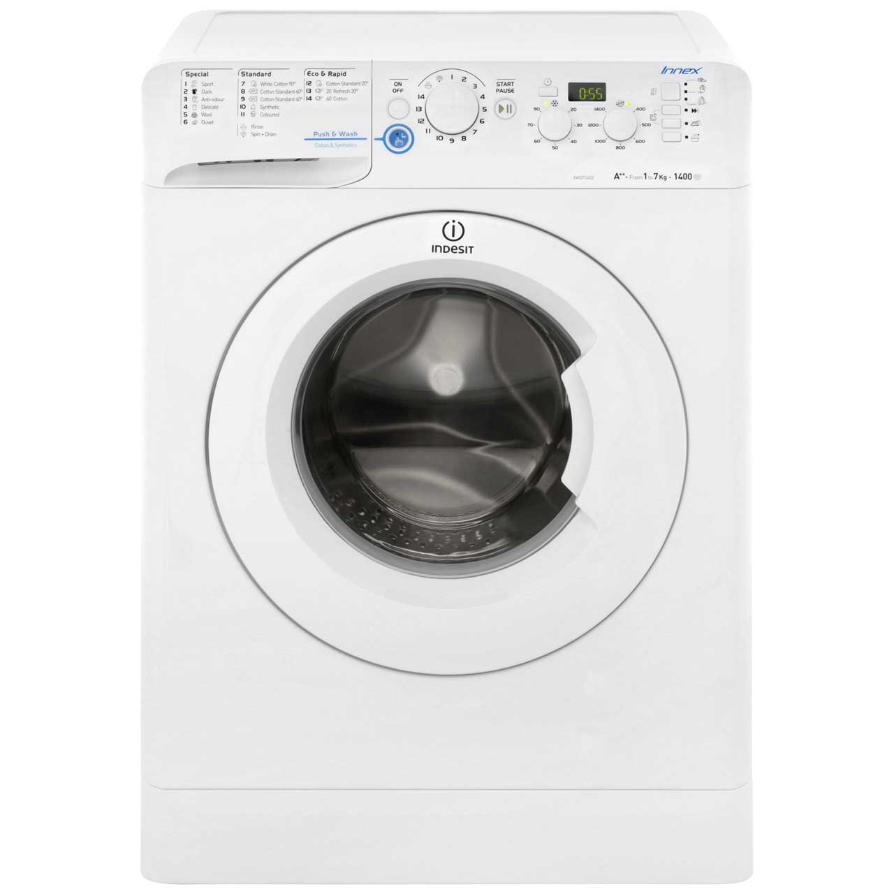 Indesit Innex XWD71452W 7Kg Washing Machine with 1400 rpm - White