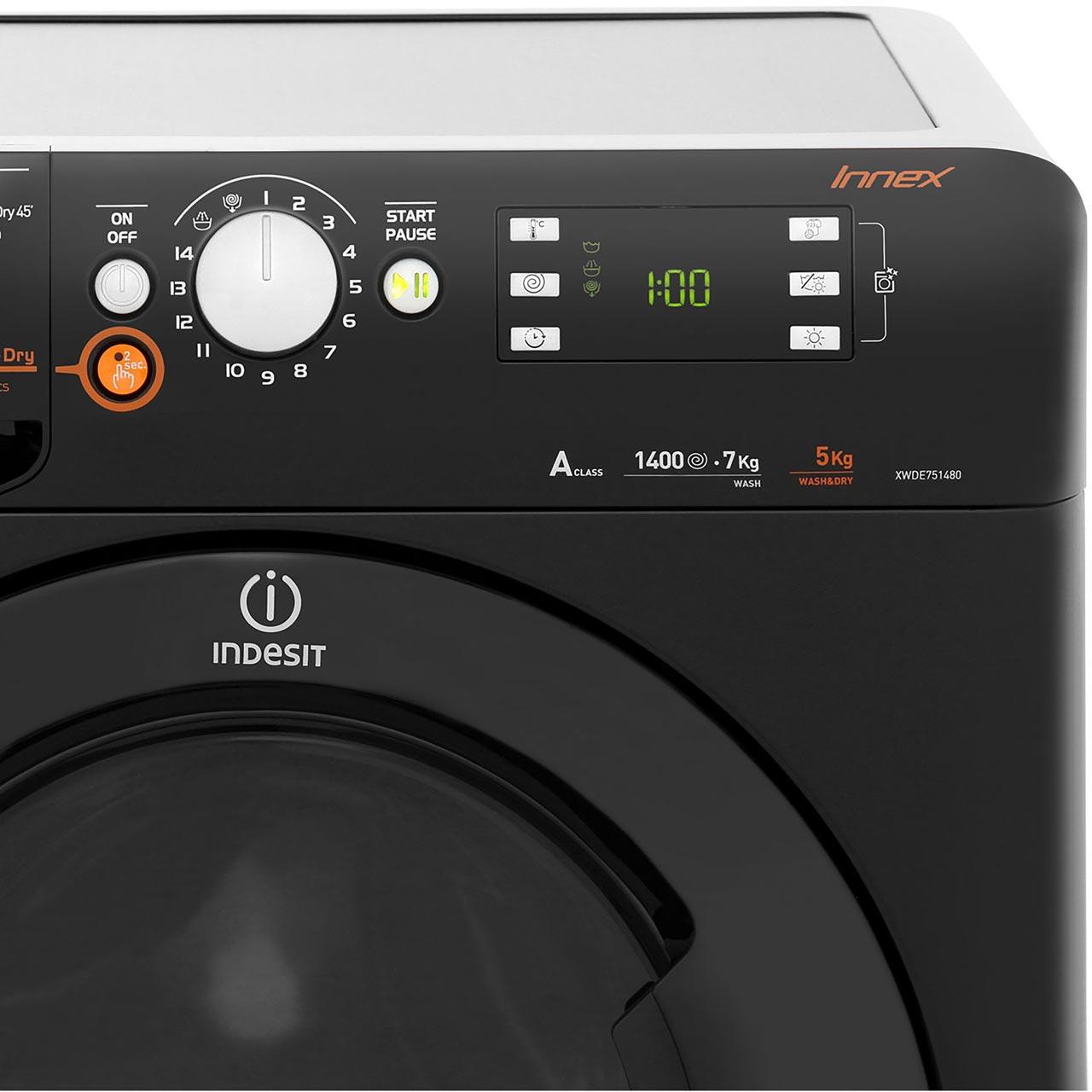 Indesit Innex Xwde751480xk 7kg 5kg Washer Dryer With