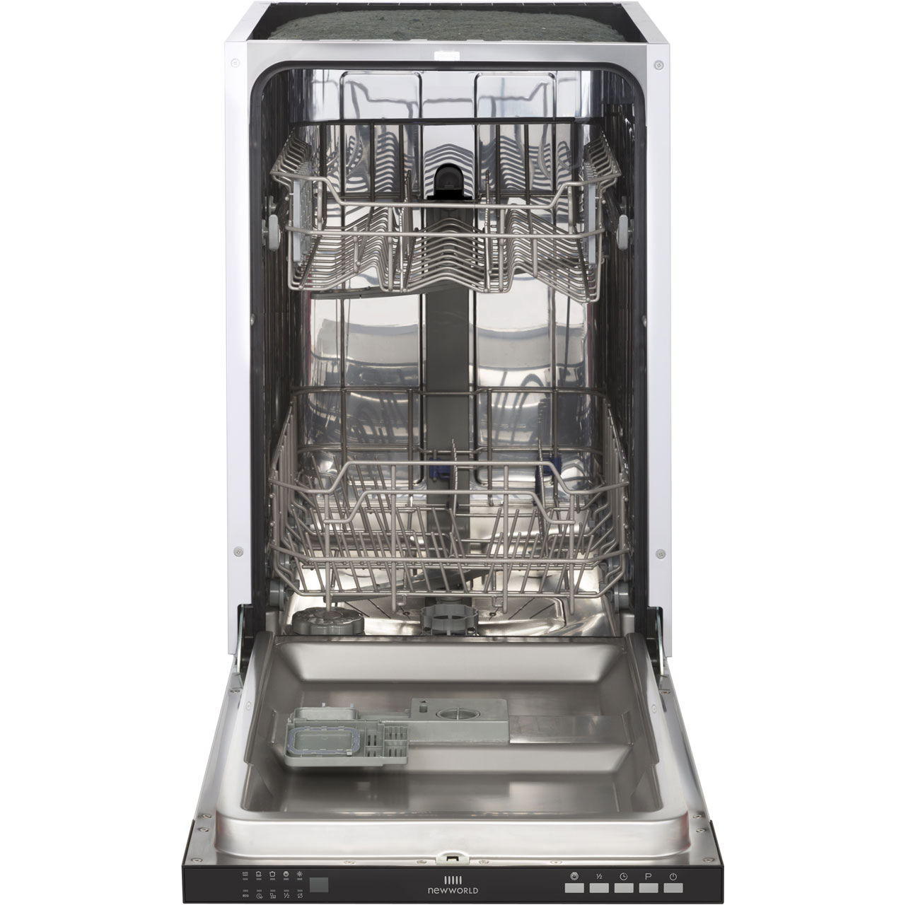 Newworld INDW45 Integrated Slimline Dishwasher in Black