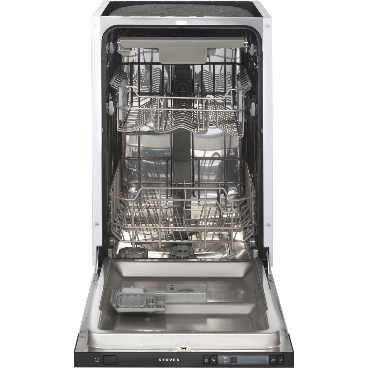 Stoves INTDW45 Integrated Slimline Dishwasher in Black