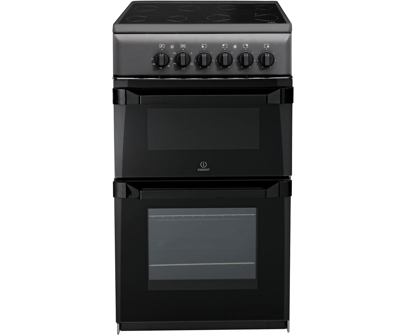 Indesit Advance IT50CAS Electric Cooker with Ceramic Hob - Anthracite