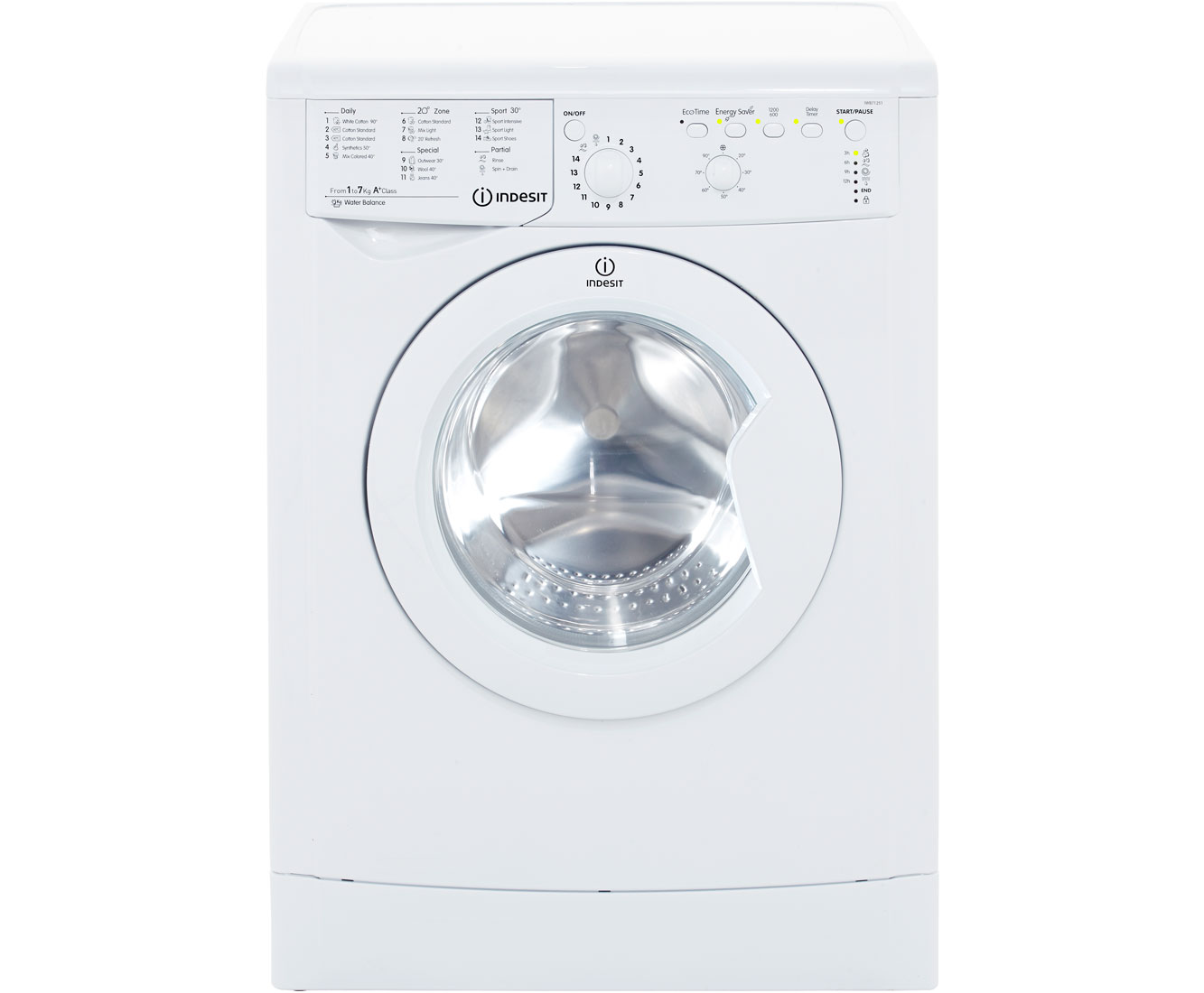 indesit iwb71251 7kg washing machine with 1200 rpm white. Black Bedroom Furniture Sets. Home Design Ideas