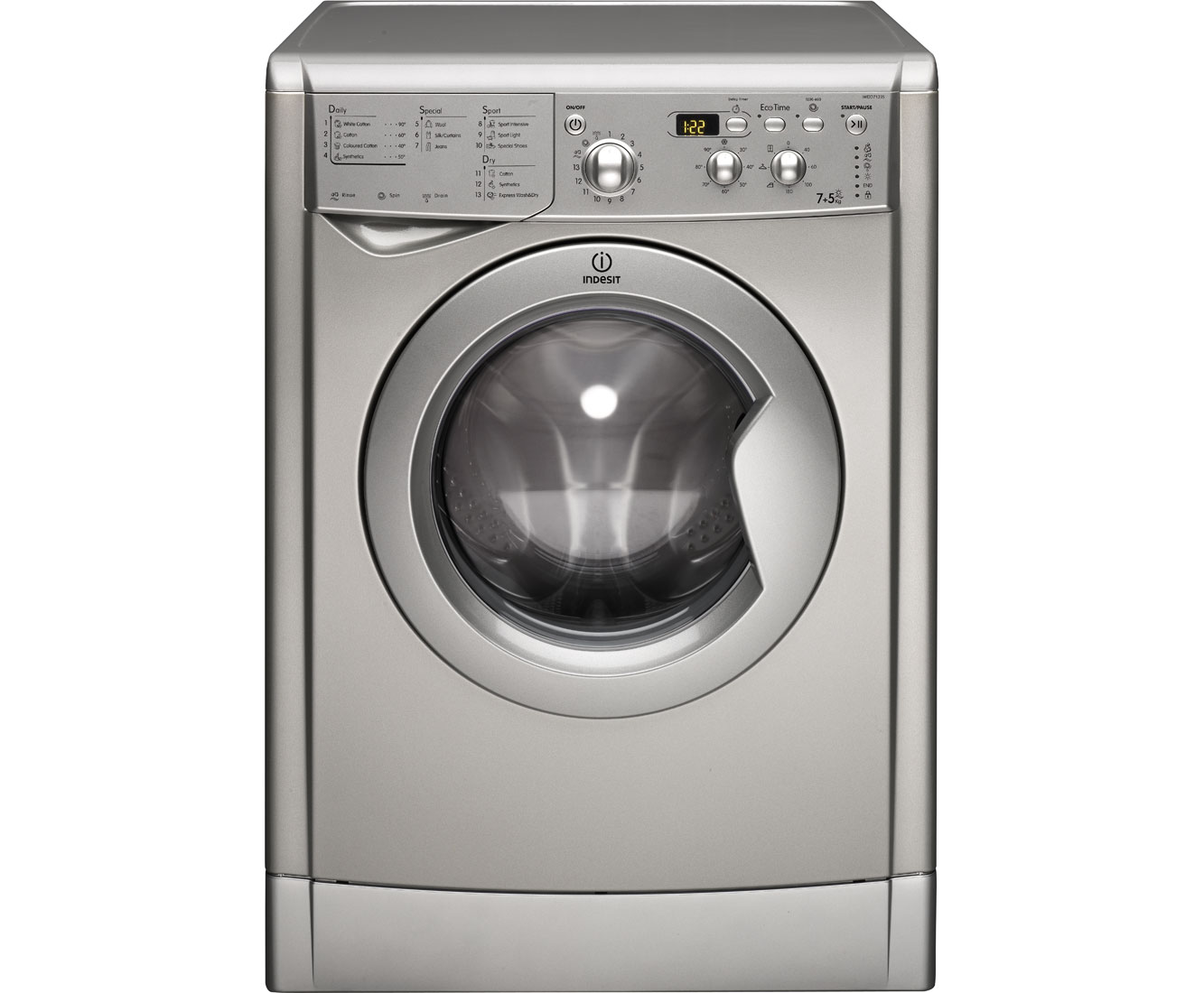 Indesit Advance IWDD7123S 7Kg / 5Kg Washer Dryer with 1200 rpm - Silver