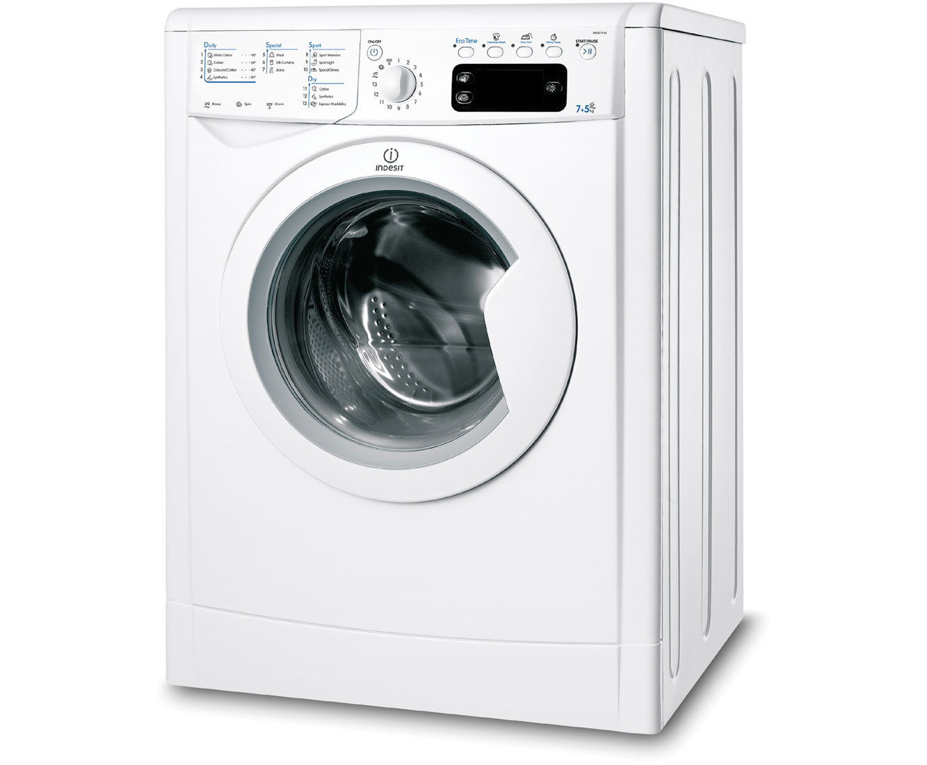 Indesit Advance IWDE7145B 7Kg / 5Kg Washer Dryer with 1400 rpm - White