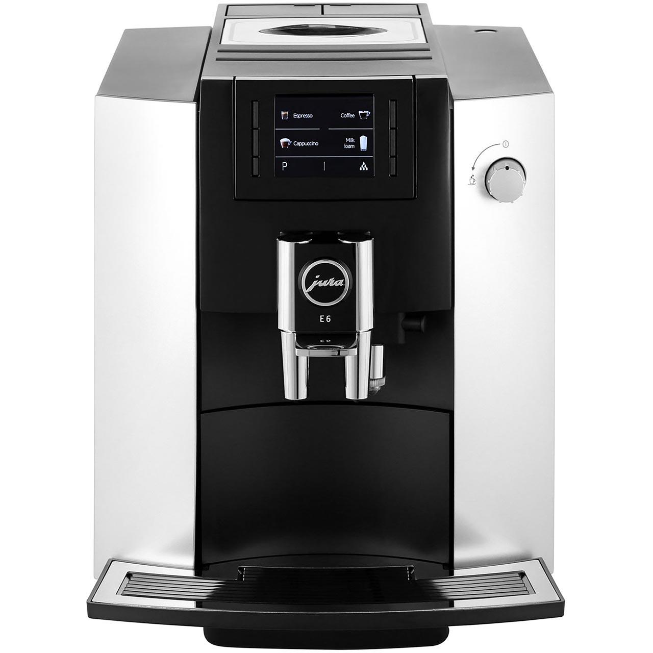 jura e6 bean to cup coffee machine 1450 watt 15 bar. Black Bedroom Furniture Sets. Home Design Ideas