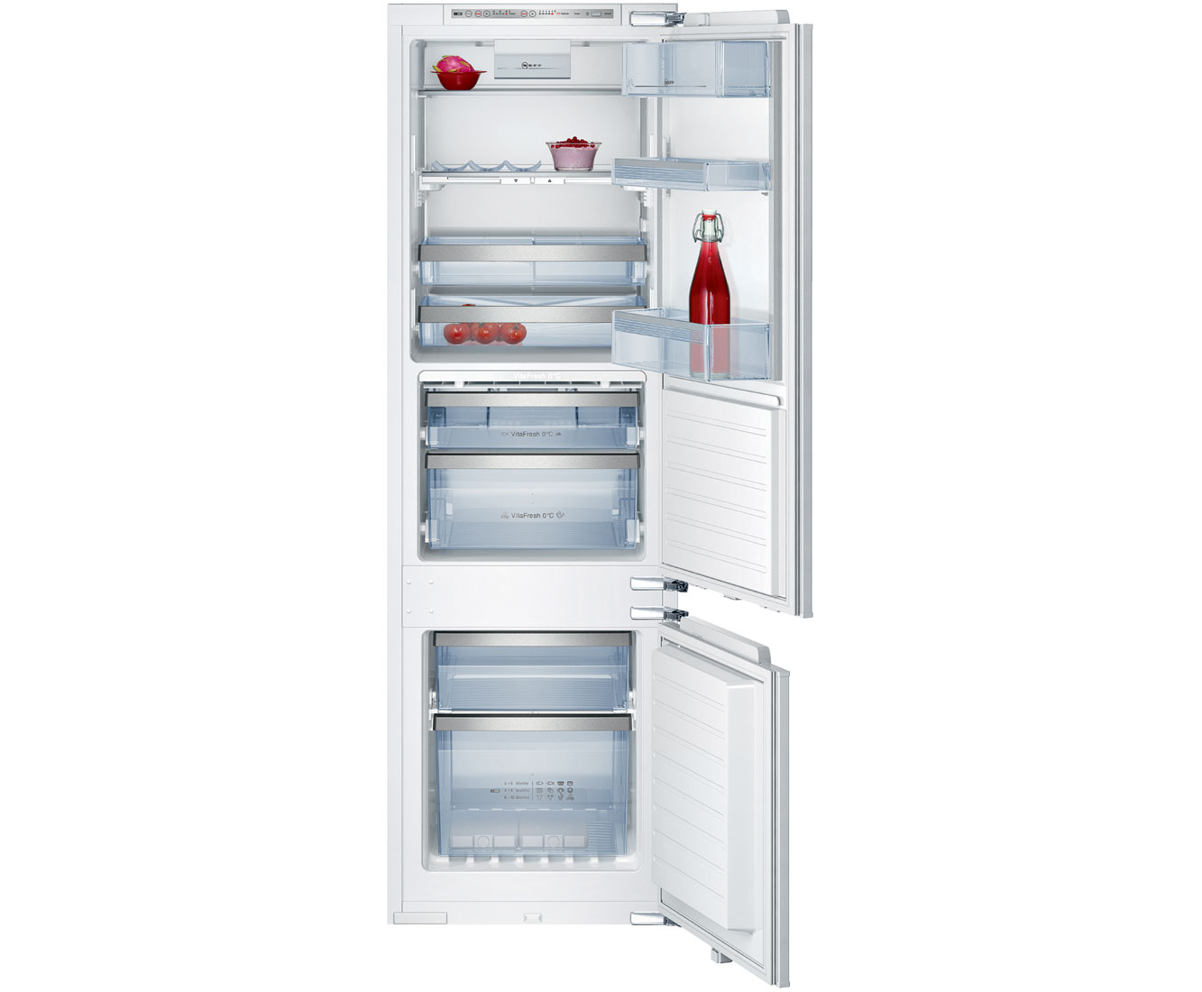 Neff K8345X0 Integrated Fridge Freezer Frost Free in White