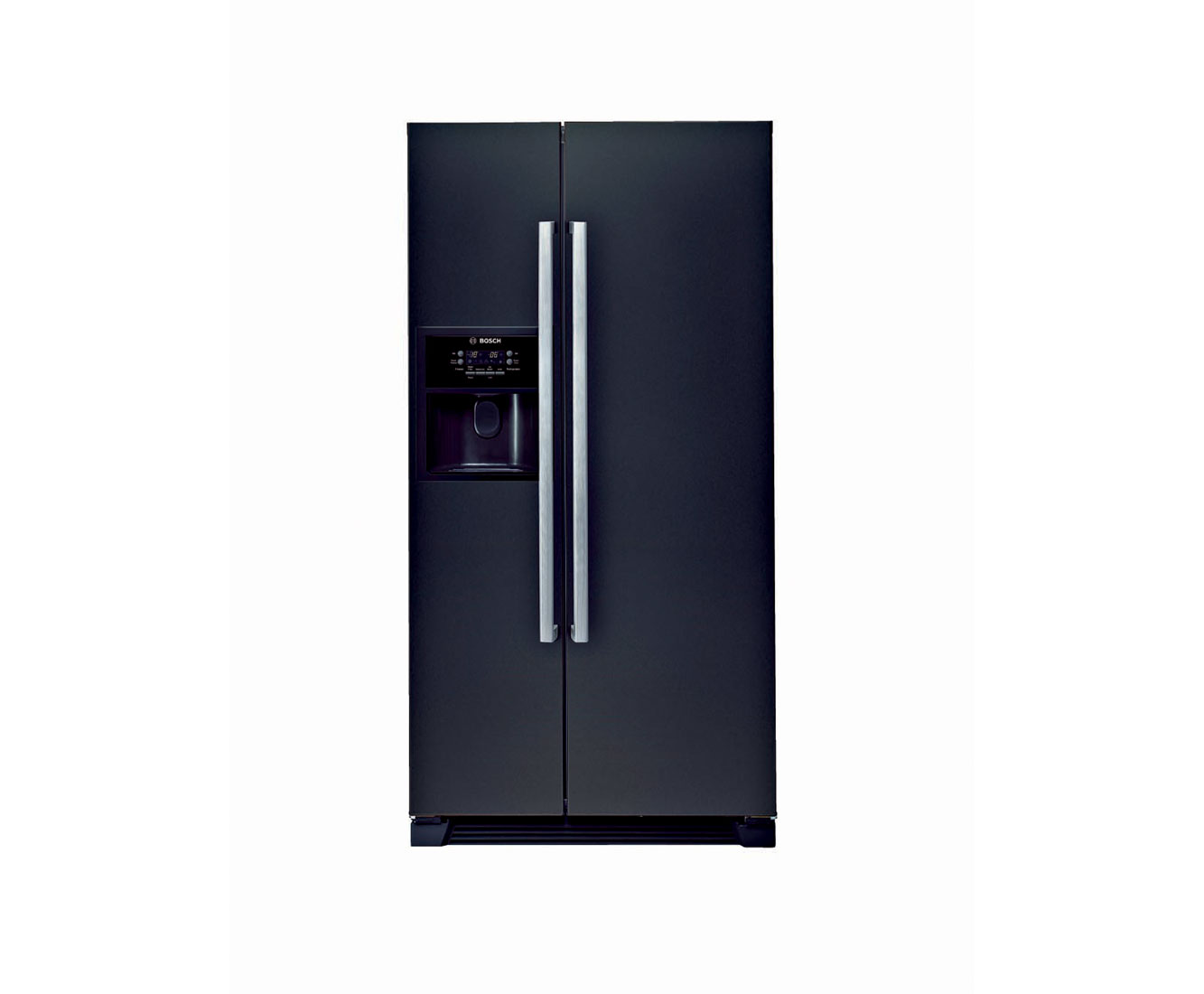 Bosch Serie 6 KAN58A55GB American Fridge Freezer - Black Gloss