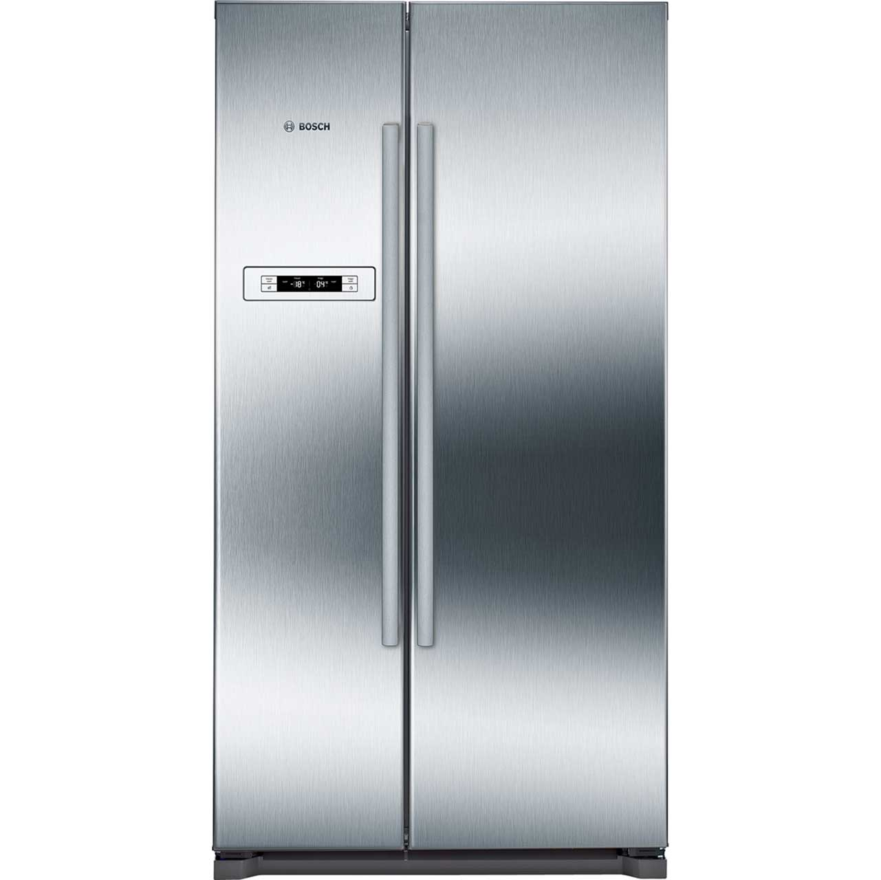 Bosch Serie 4 KAN90VI20G American Fridge Freezer - Stainless Steel