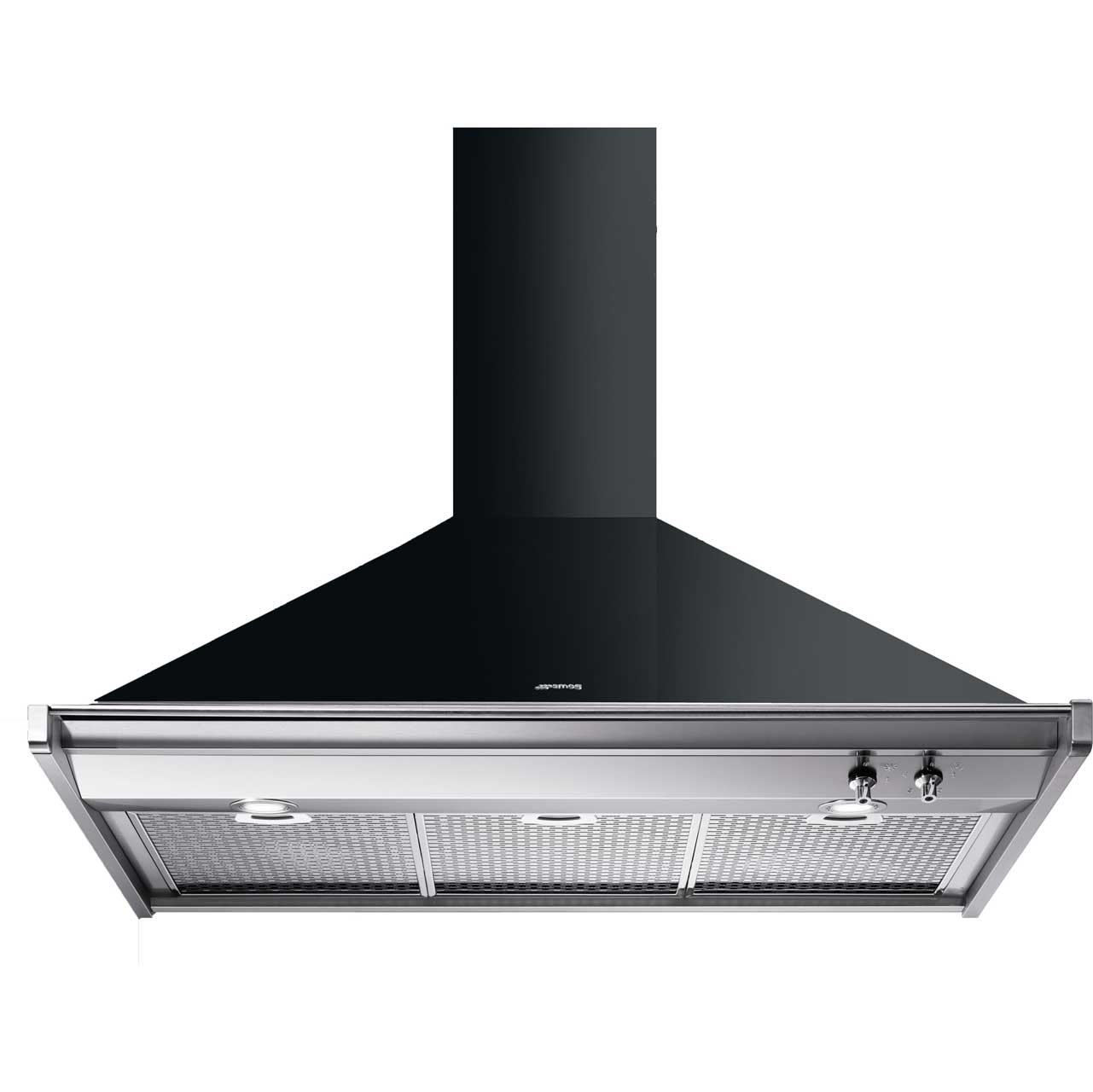 Smeg Opera KD100NE 100 cm Chimney Cooker Hood - Black