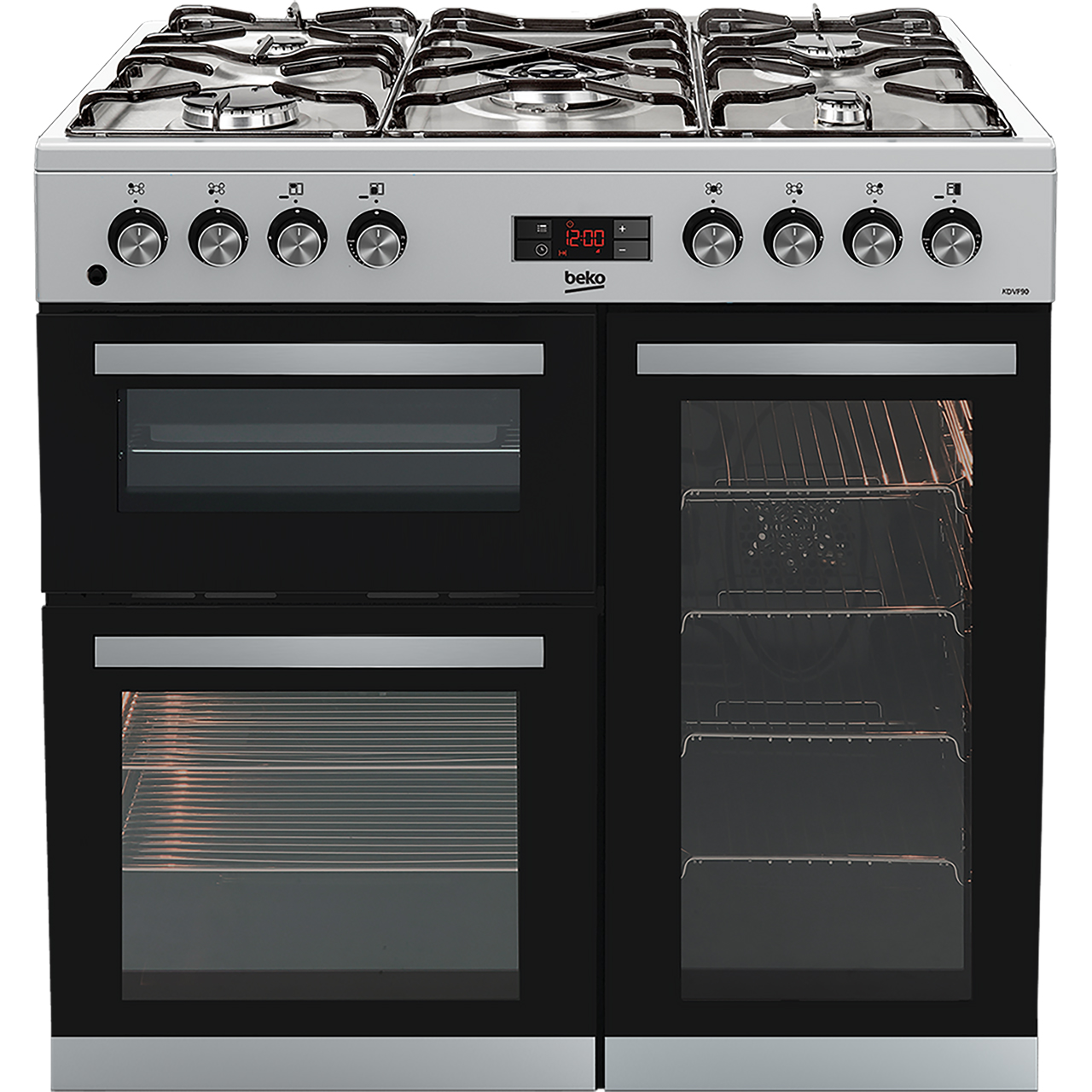 beko kdvf90x 90cm dual fuel range cooker review. Black Bedroom Furniture Sets. Home Design Ideas
