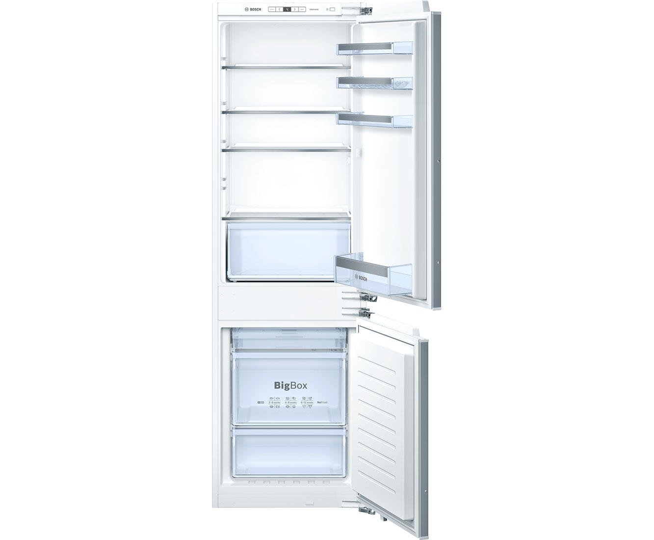 Bosch Serie 4 KIN86VF30G Integrated Fridge Freezer Frost Free in White