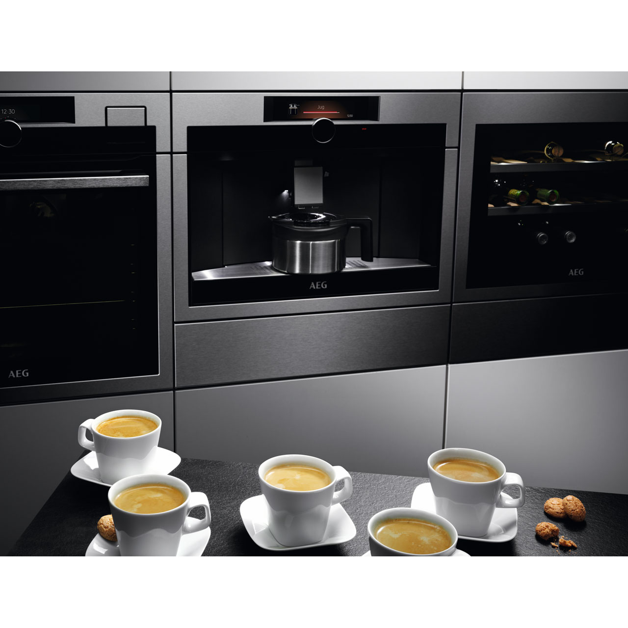 Aeg Kke994500m Built In Bean To Cup Coffee Machine Stainless Steel