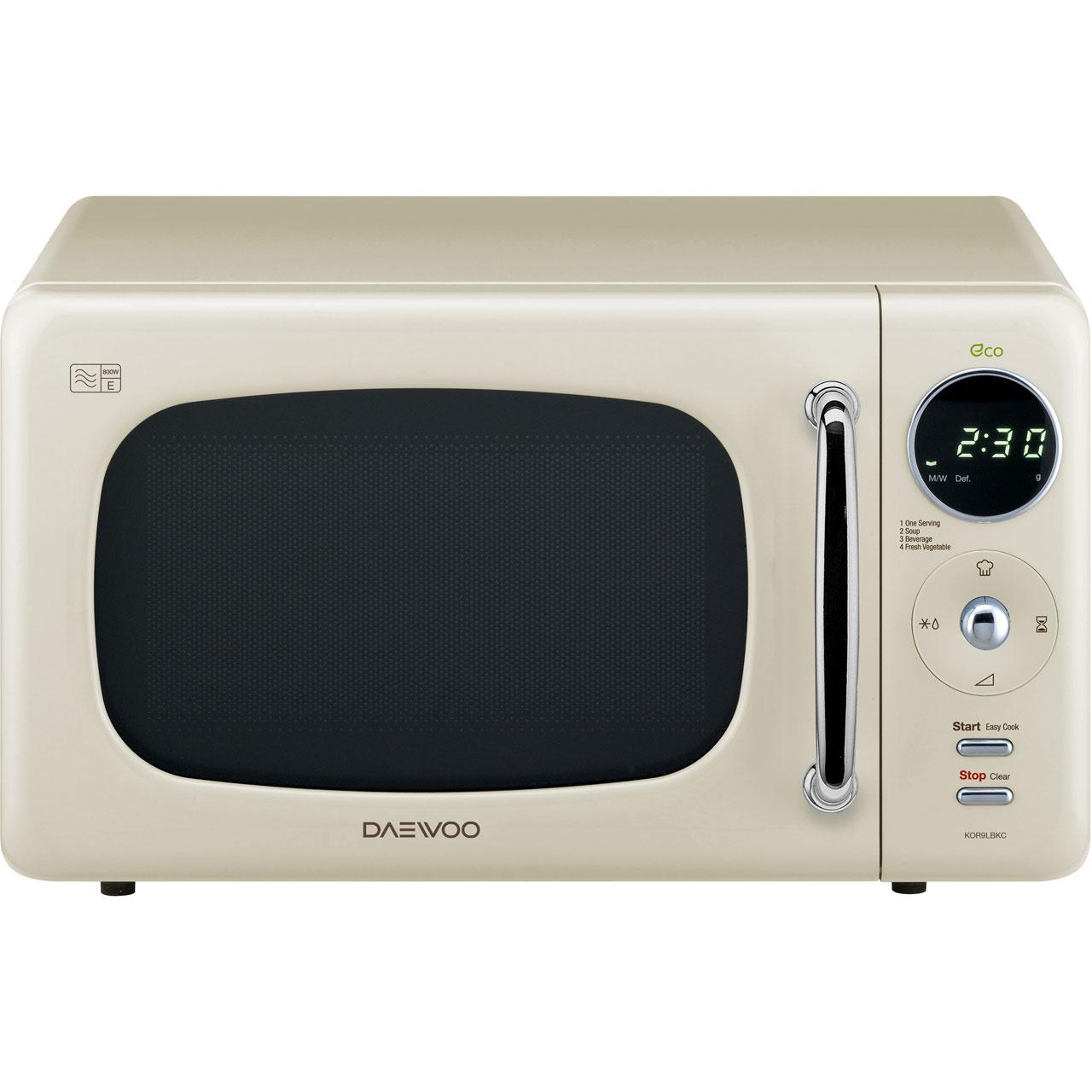 KOR9LBKC_CR | Daewoo Microwave | Cream | ao.com