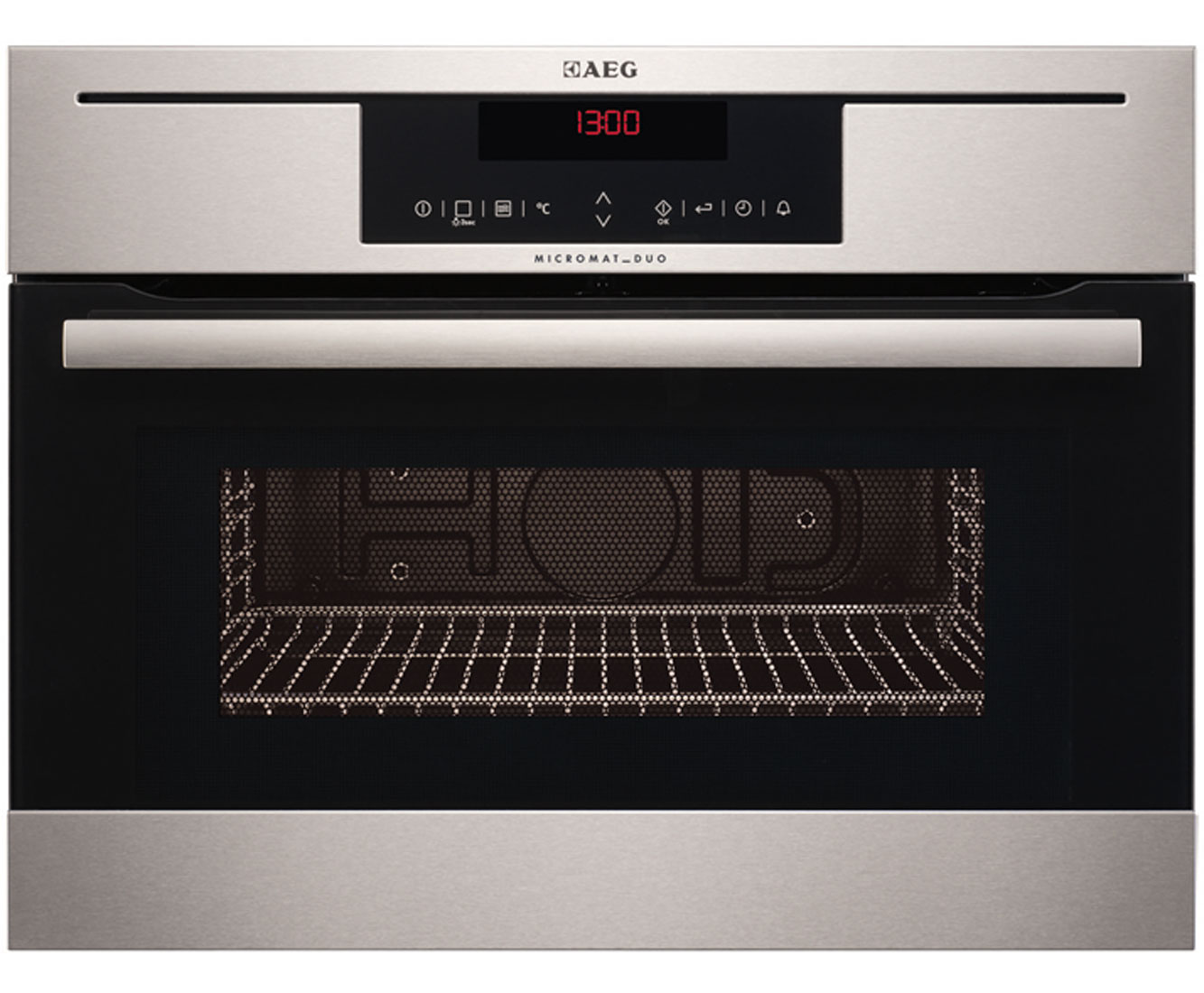 AEG Competence KR8403021M Integrated Microwave Oven in Stainless Steel