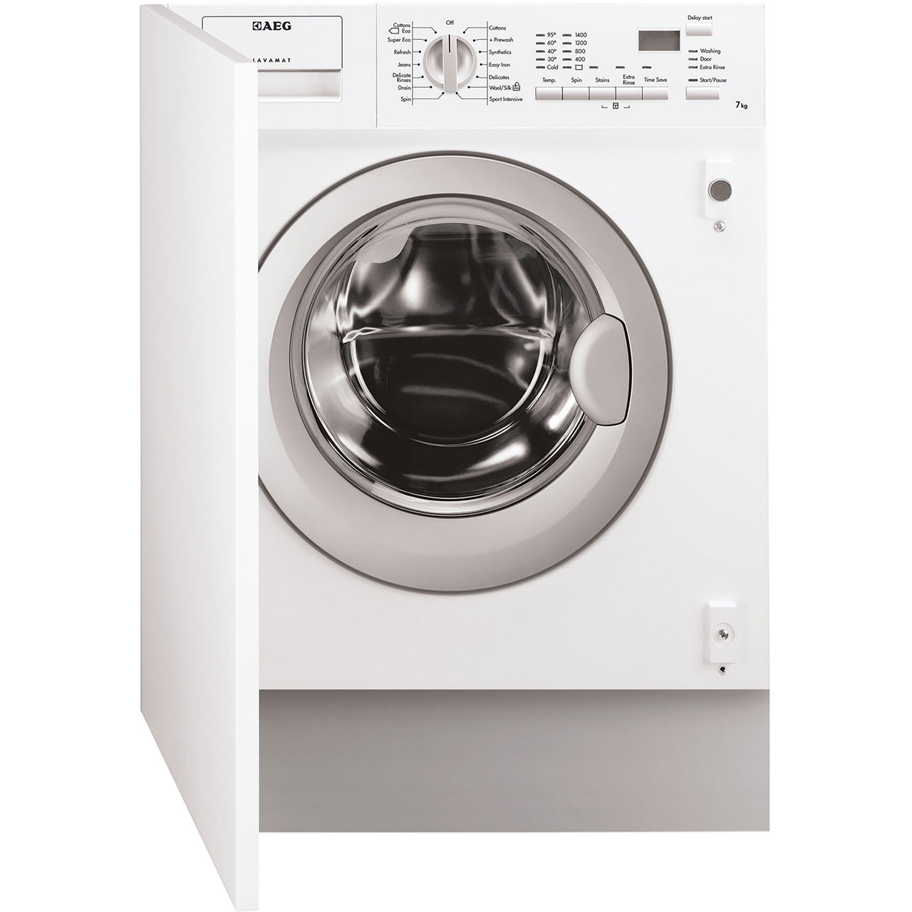 Standard Washing Machine Width Aeg Integrated 7kg Washing Machine L61470bi Aocom
