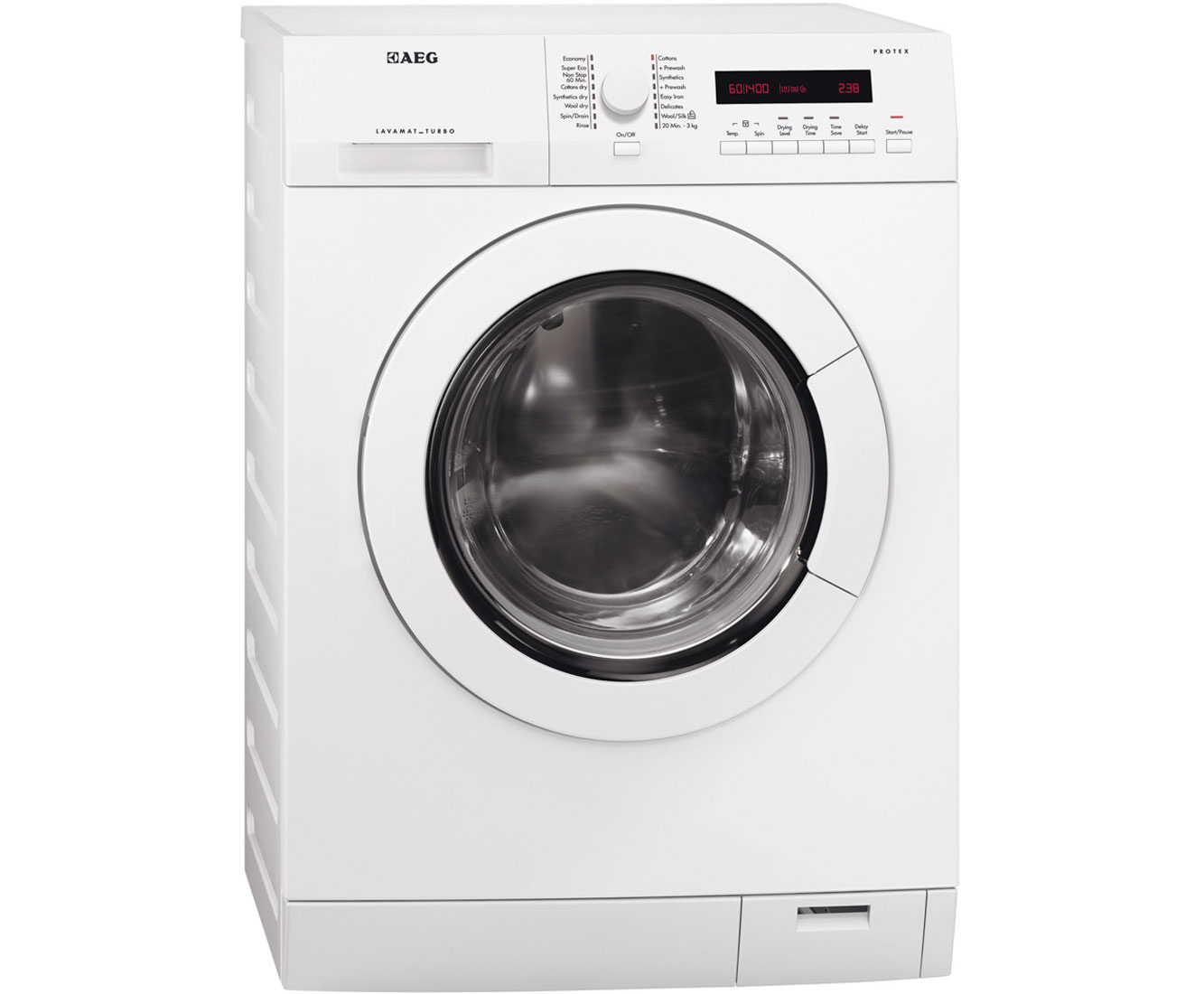 aeg l75480wd1400 spin 8kg all in one condenser washer dryer in white ebay. Black Bedroom Furniture Sets. Home Design Ideas