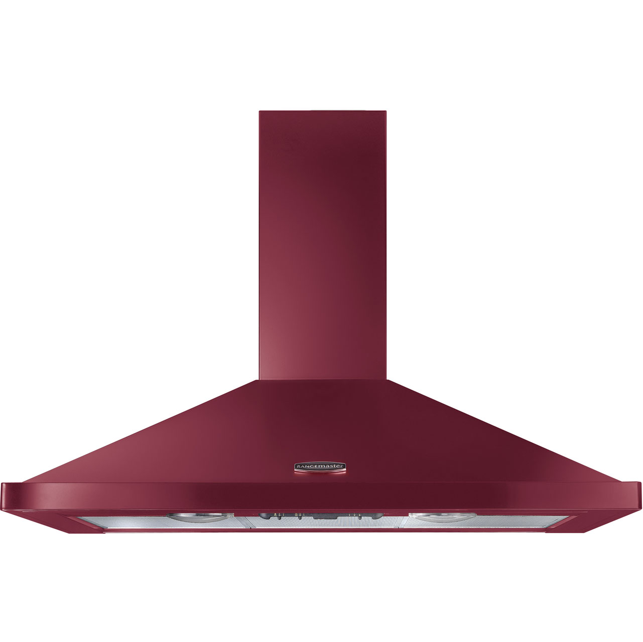 Rangemaster LEIHDC90CYC Integrated Cooker Hood in Cranberry  Chrome