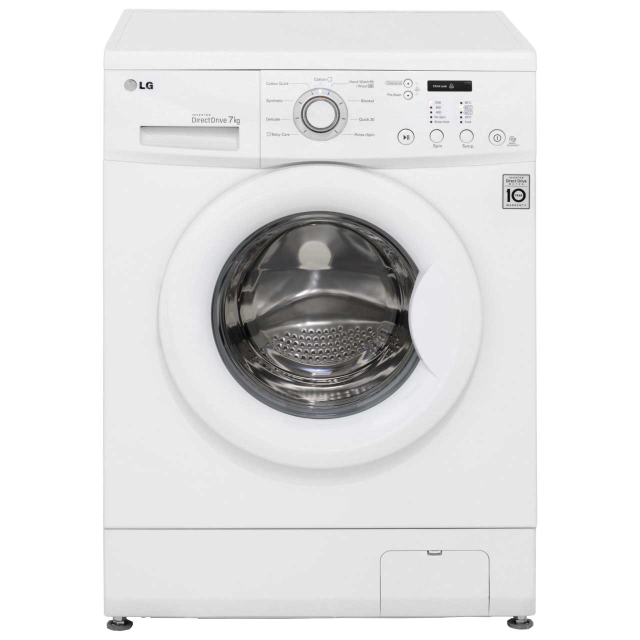 LG F12C3QD Free Standing Washing Machine in White