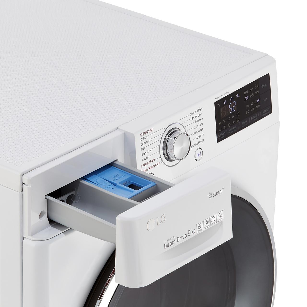 LG Steam™ F4J7VY2WD Washing Machine - White