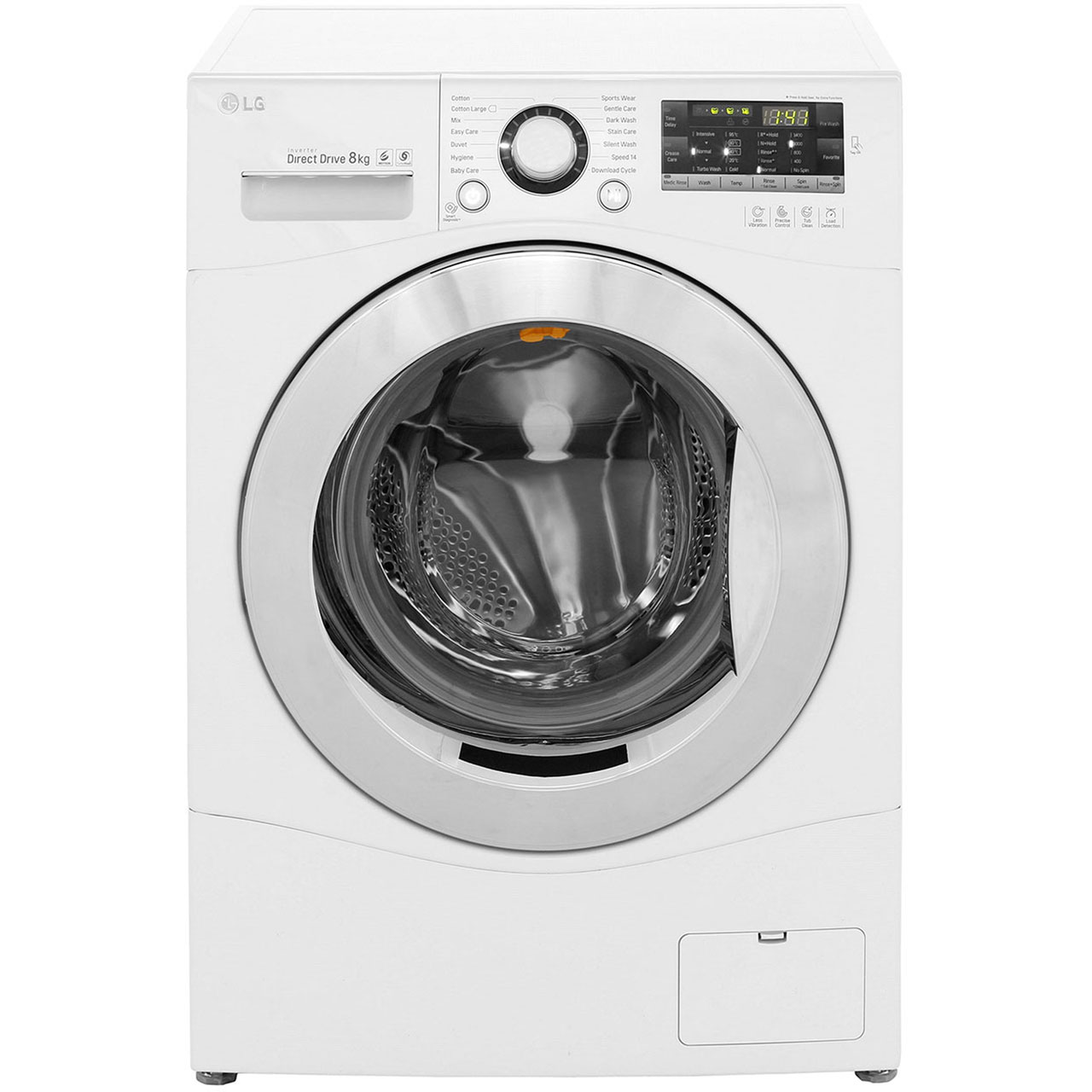 LG FH4A8TDN2 Free Standing Washing Machine in White
