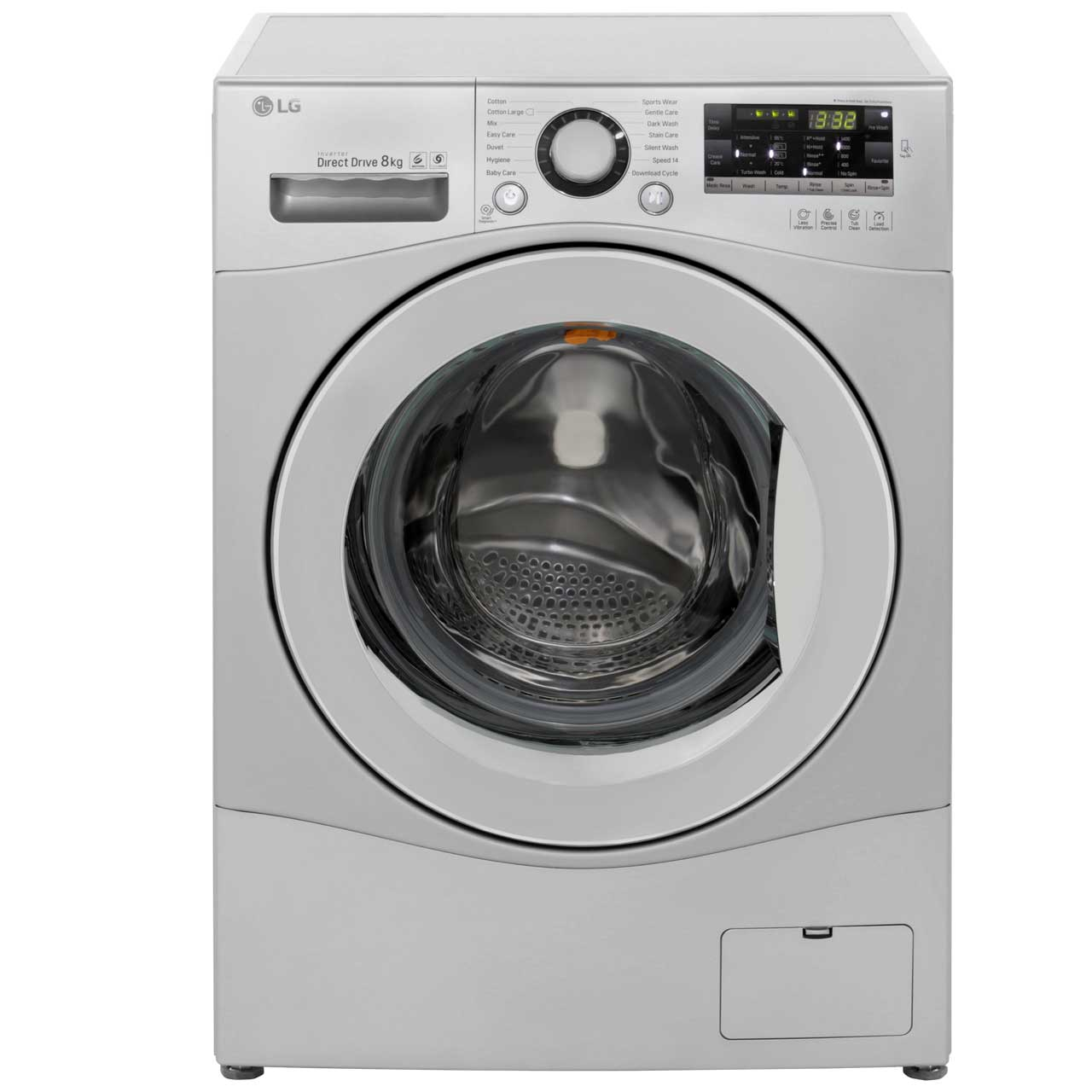 LG FH4A8TDN4 8Kg Washing Machine with 1400 rpm - Silver