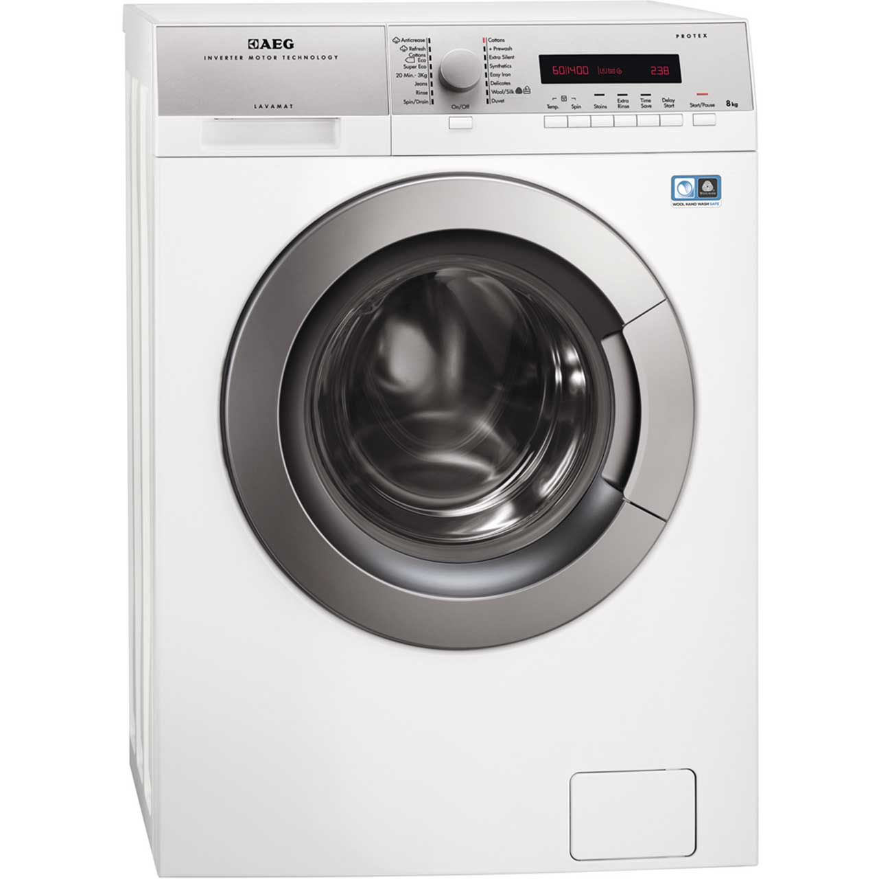 AEG Lavamat LS74486FL Free Standing Washing Machine in White
