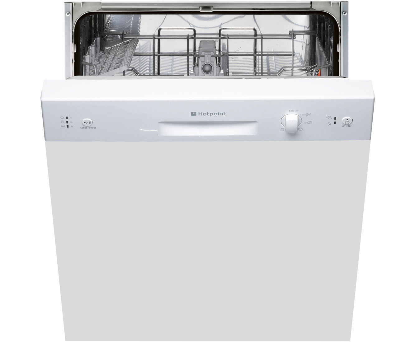 Hotpoint LSB5B019W Semi Integrated Standard Dishwasher - White