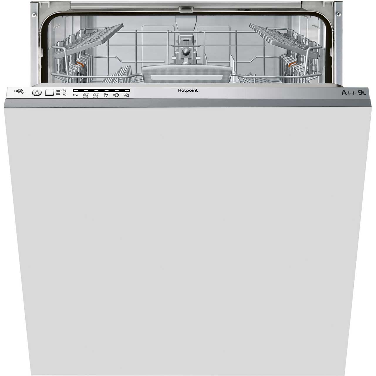 Hotpoint LSTB6M19 Integrated Slimline Dishwasher in Stainless Steel