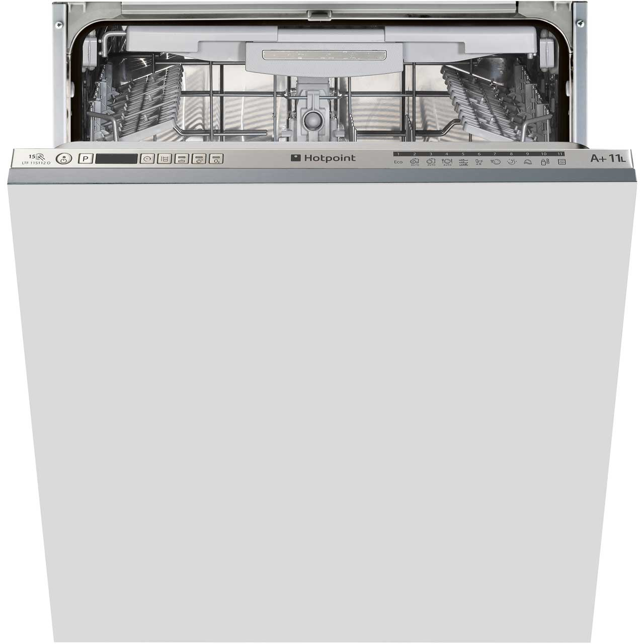 Hotpoint Ultima LTF11S112O Integrated Dishwasher in Stainless Steel