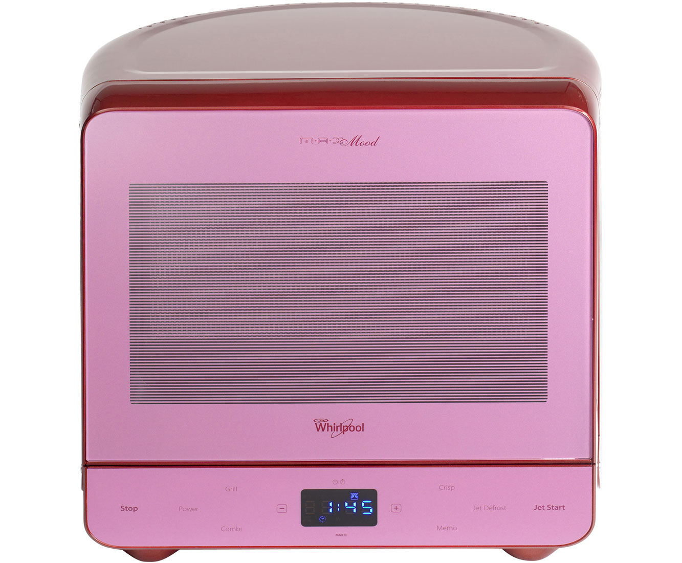 Whirlpool Mood MAX38SMG 13 Litre Microwave With Grill - Vibrant Red