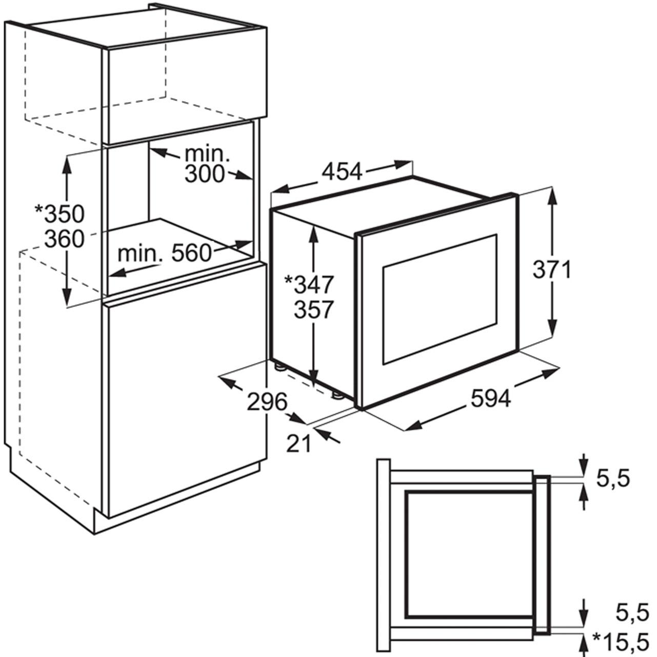 Standard Microwave Dimensions Bestmicrowave