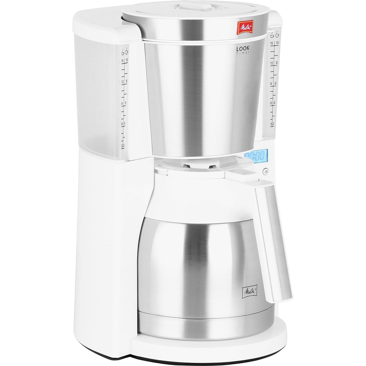 Melitta Look Iv Therm Timer 6738037 Filter Coffee Machine With Timer White
