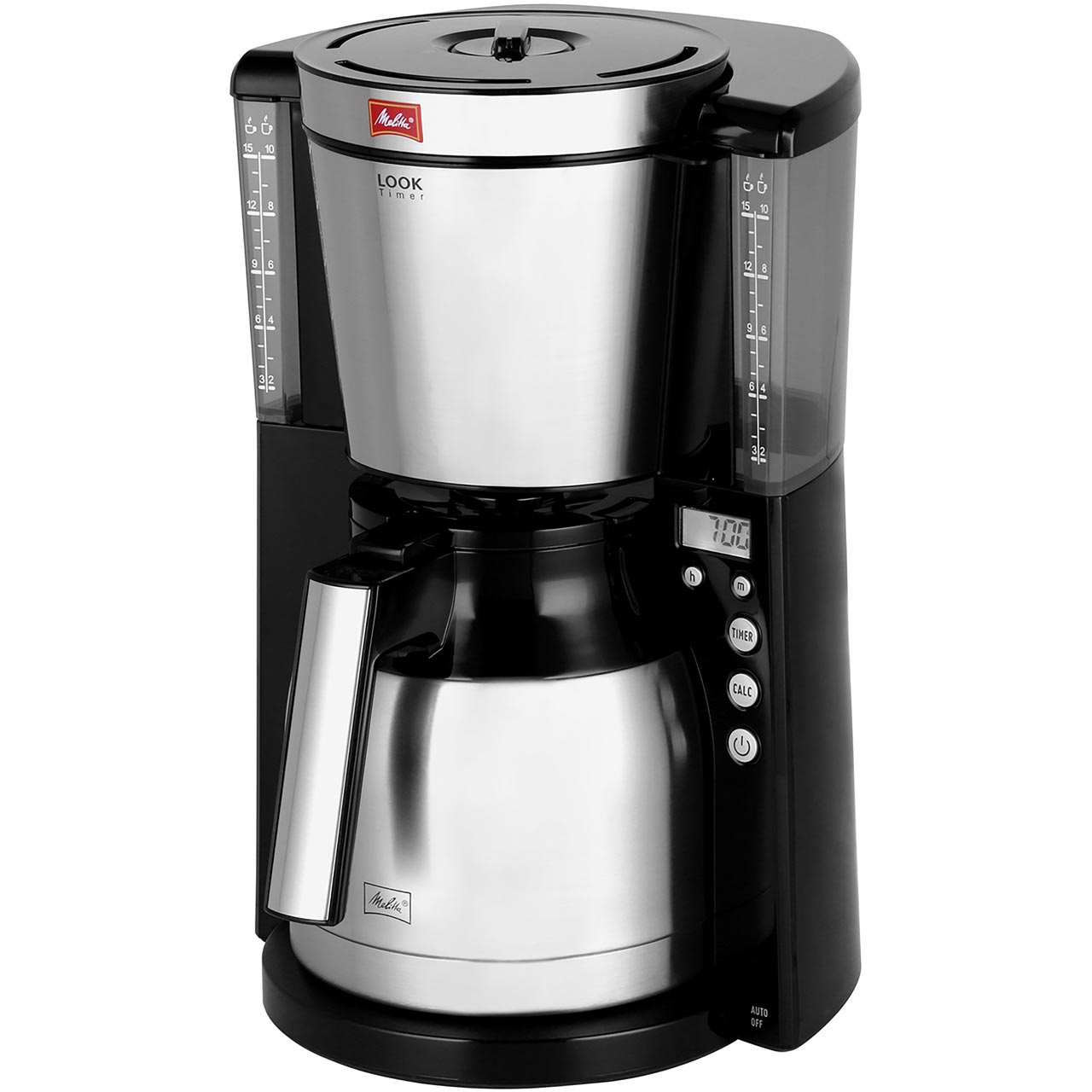 Melitta Look Iv Therm Timer 6764395 Filter Coffee Machine With Timer Black