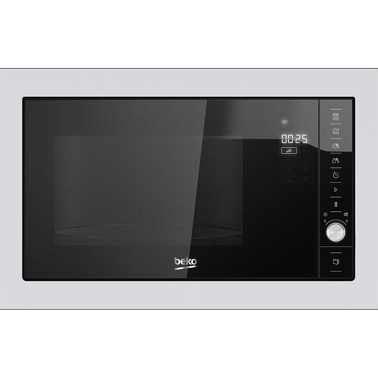 Beko MGB25332BG Integrated Microwave Oven in Black  Stainless Steel