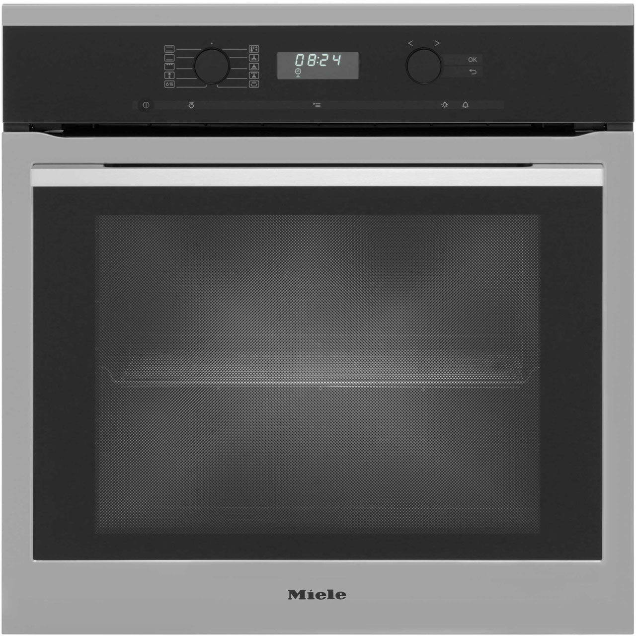 Miele ContourLine H6160B Built In Electric Single Oven - Clean Steel