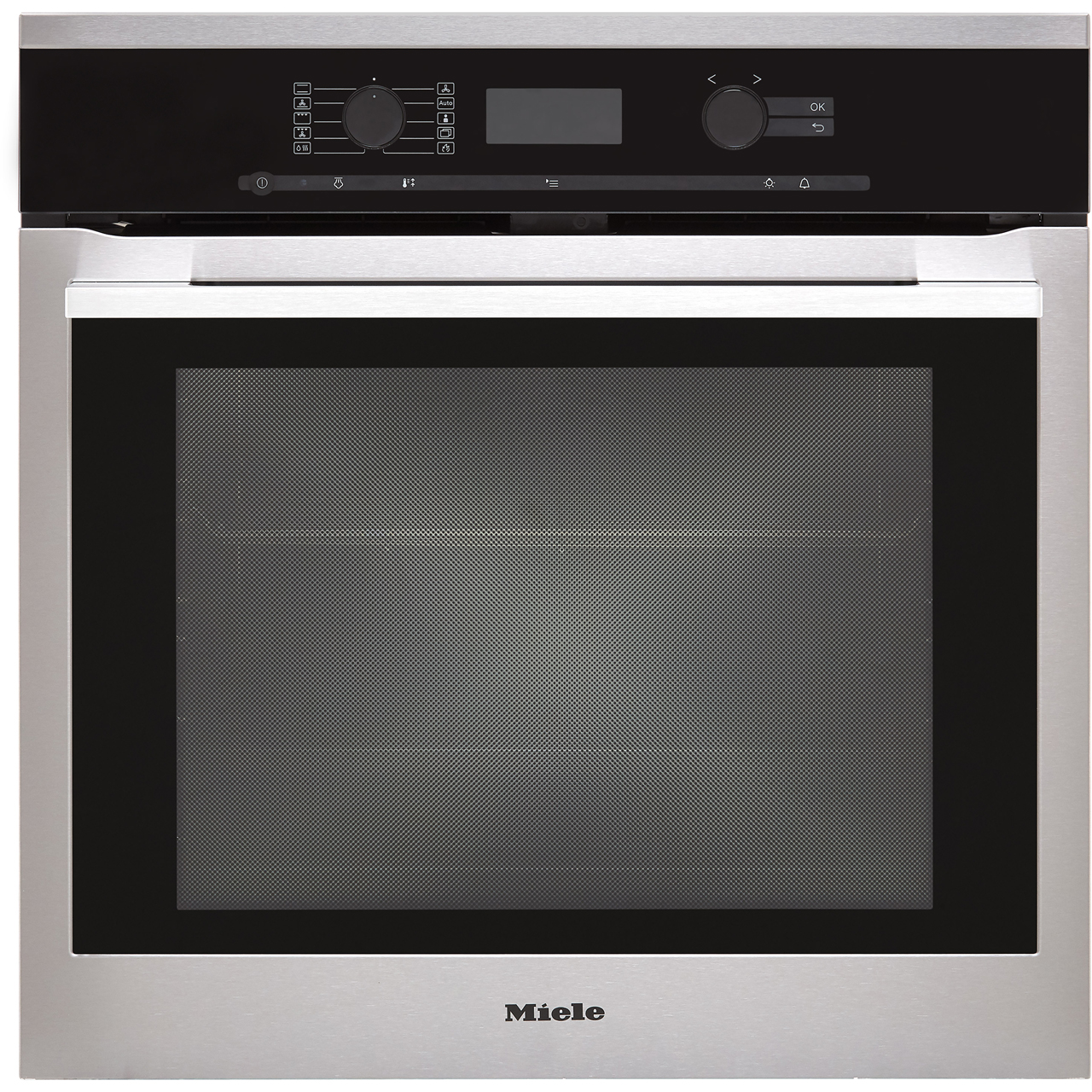 Miele H6360bp Built In Electric Single Oven With Added Steam Function Clean Steel A Rated