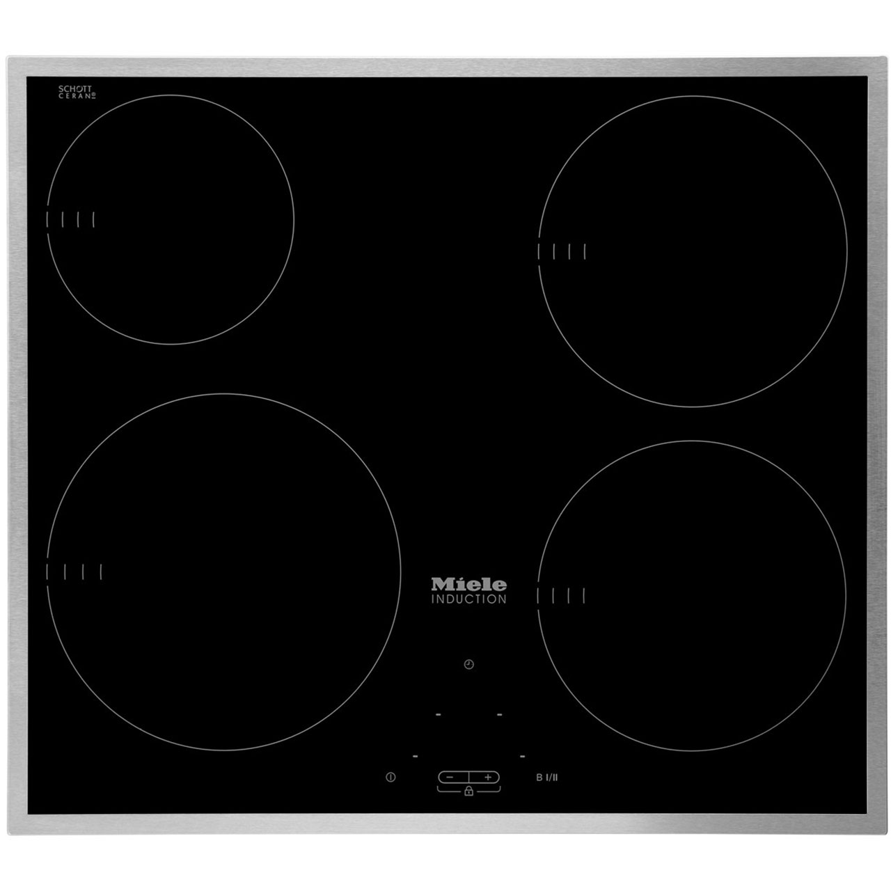 Attrayant KM6115_BK | Miele 57cm Induction Hob | Black | Ao.com