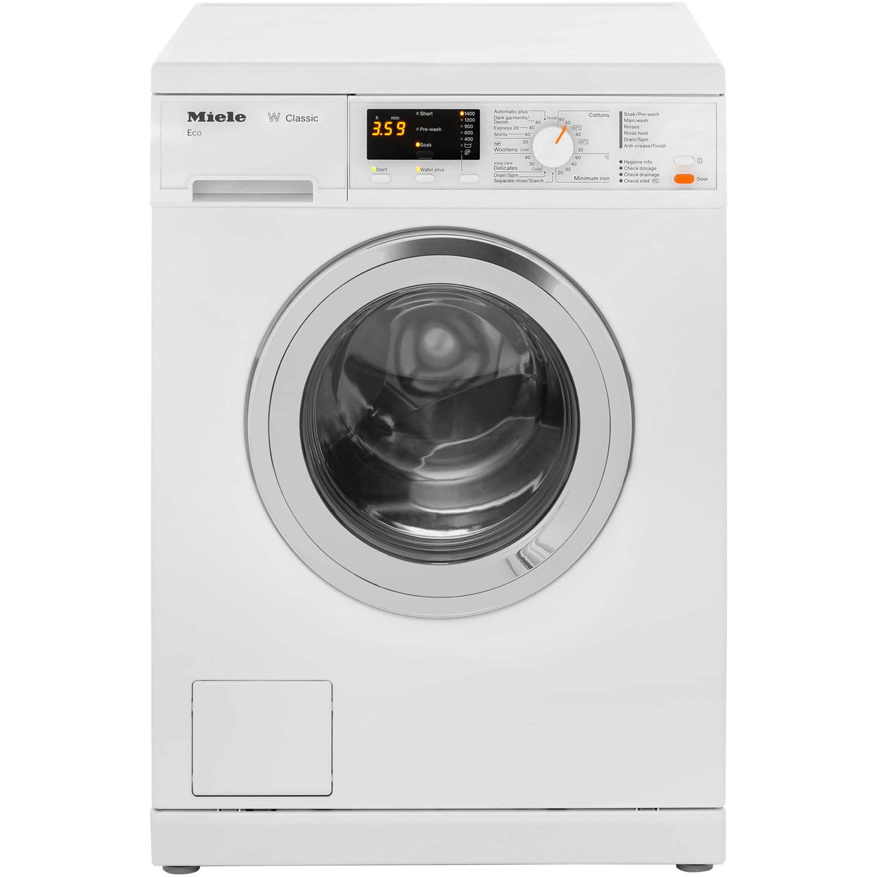 miele w classic wda101 7kg washing machine white 87912. Black Bedroom Furniture Sets. Home Design Ideas