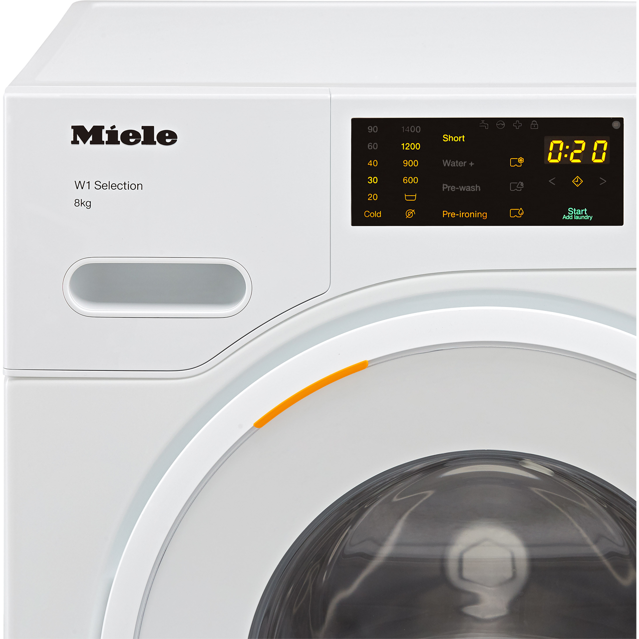 Miele W1 Wsd123 8kg Washing Machine With 1400 Rpm White A Rated