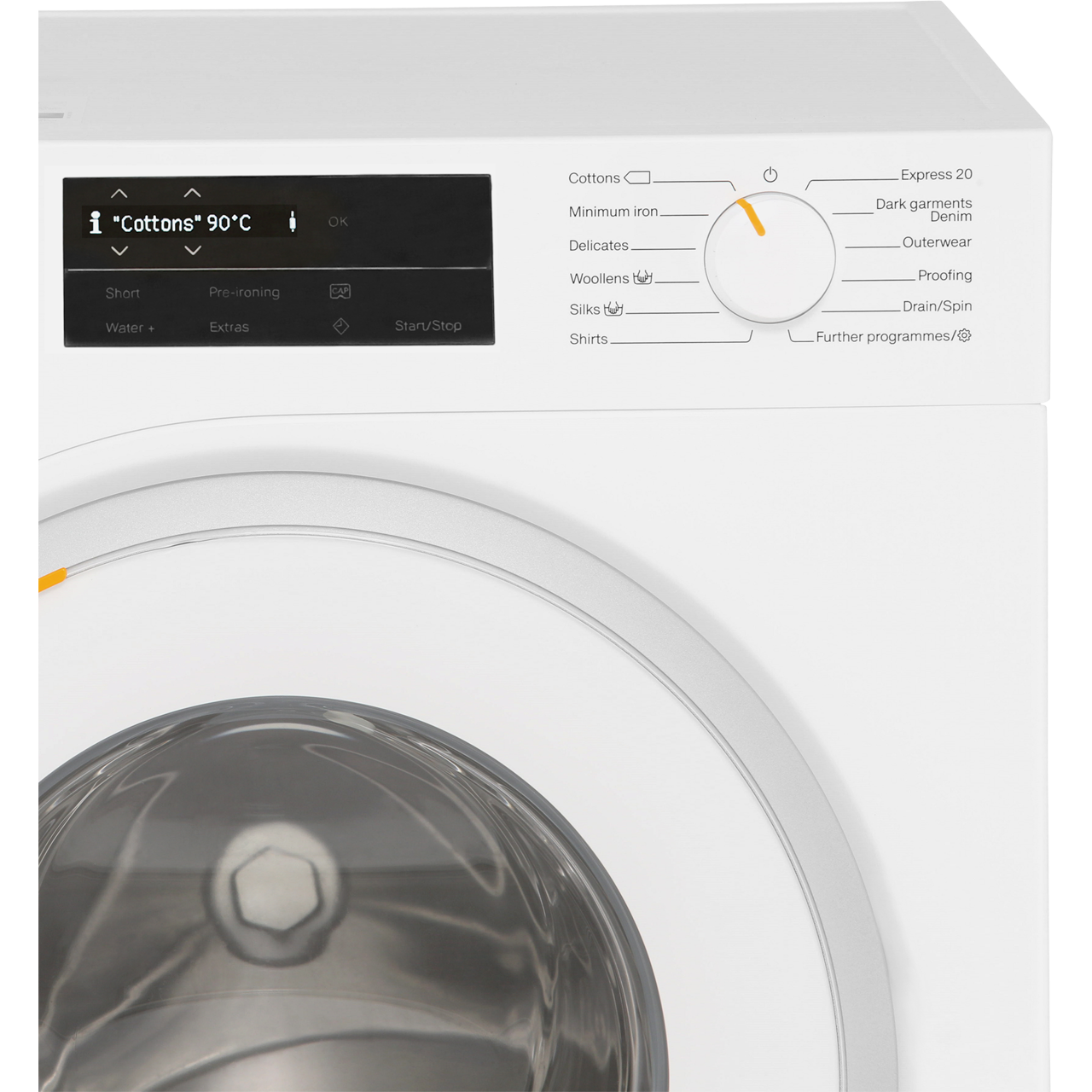 Miele W1 WWG120 9Kg Washing Machine with 1600 rpm - White - A+++ Rated