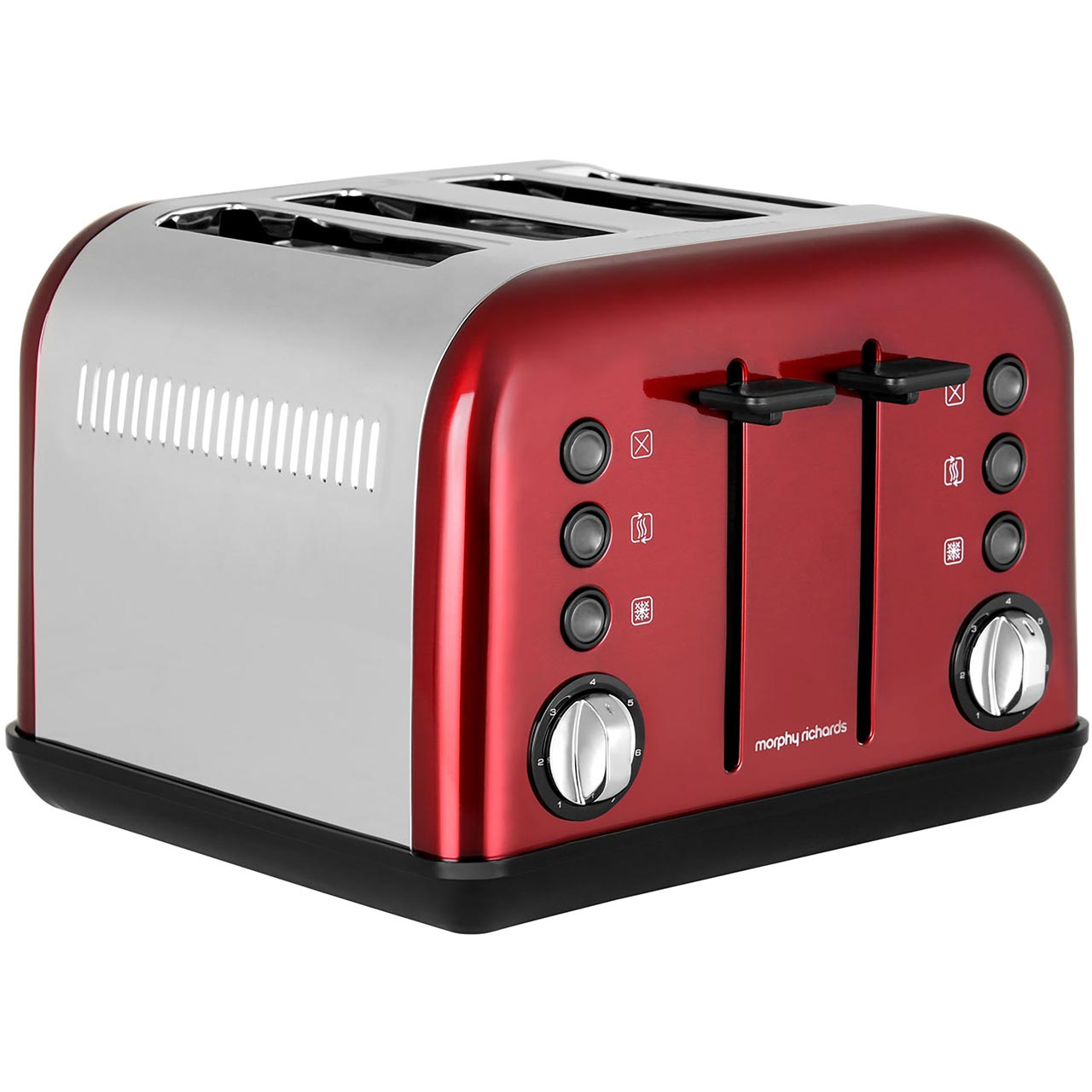 Slicwe Morphy Richards Toaster 4: Morphy Richards 242030 Accents 4 Slice Toaster Red New