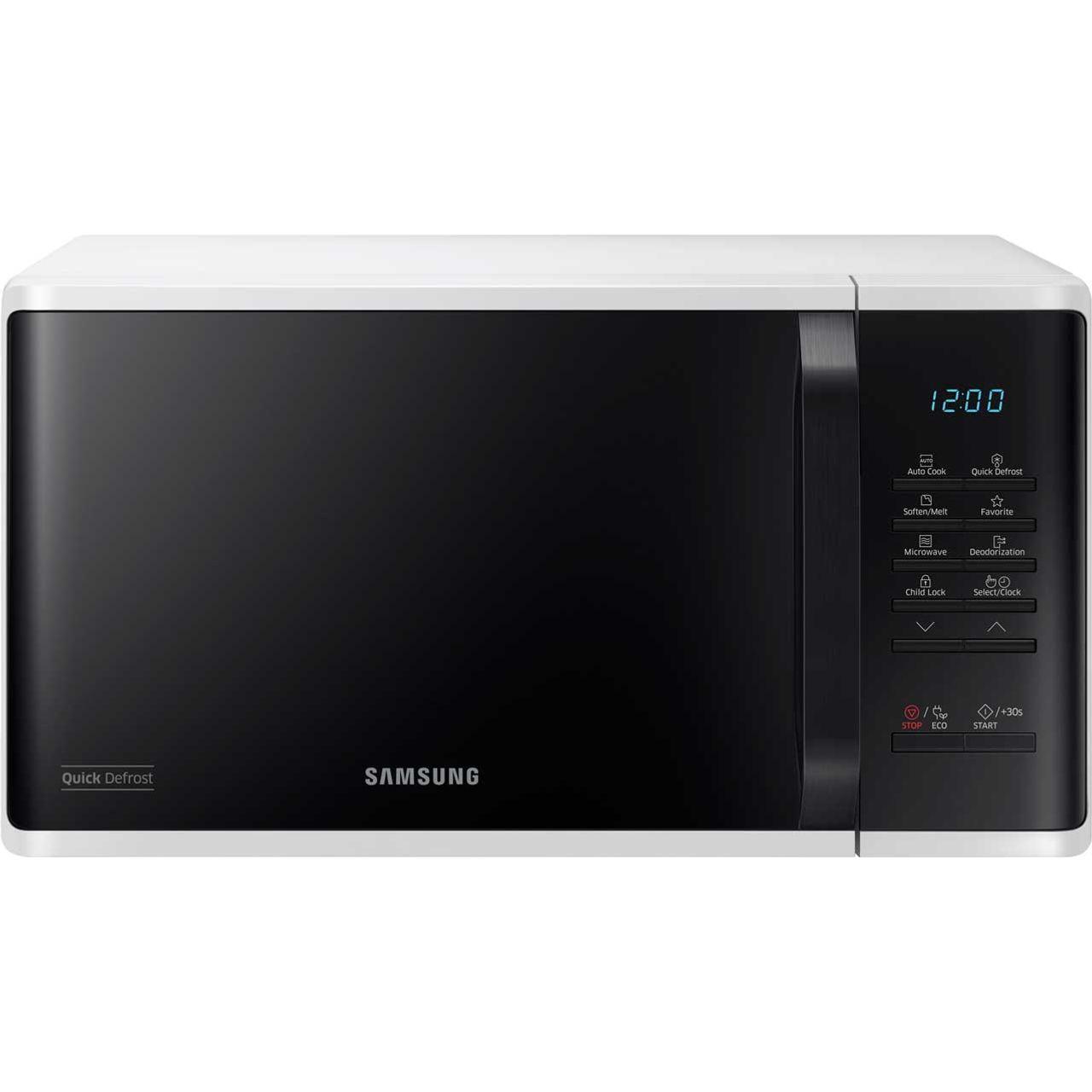 Interior Size 800 X 993 Type: Samsung MS23K3513AW 800 Watt Microwave Free Standing White