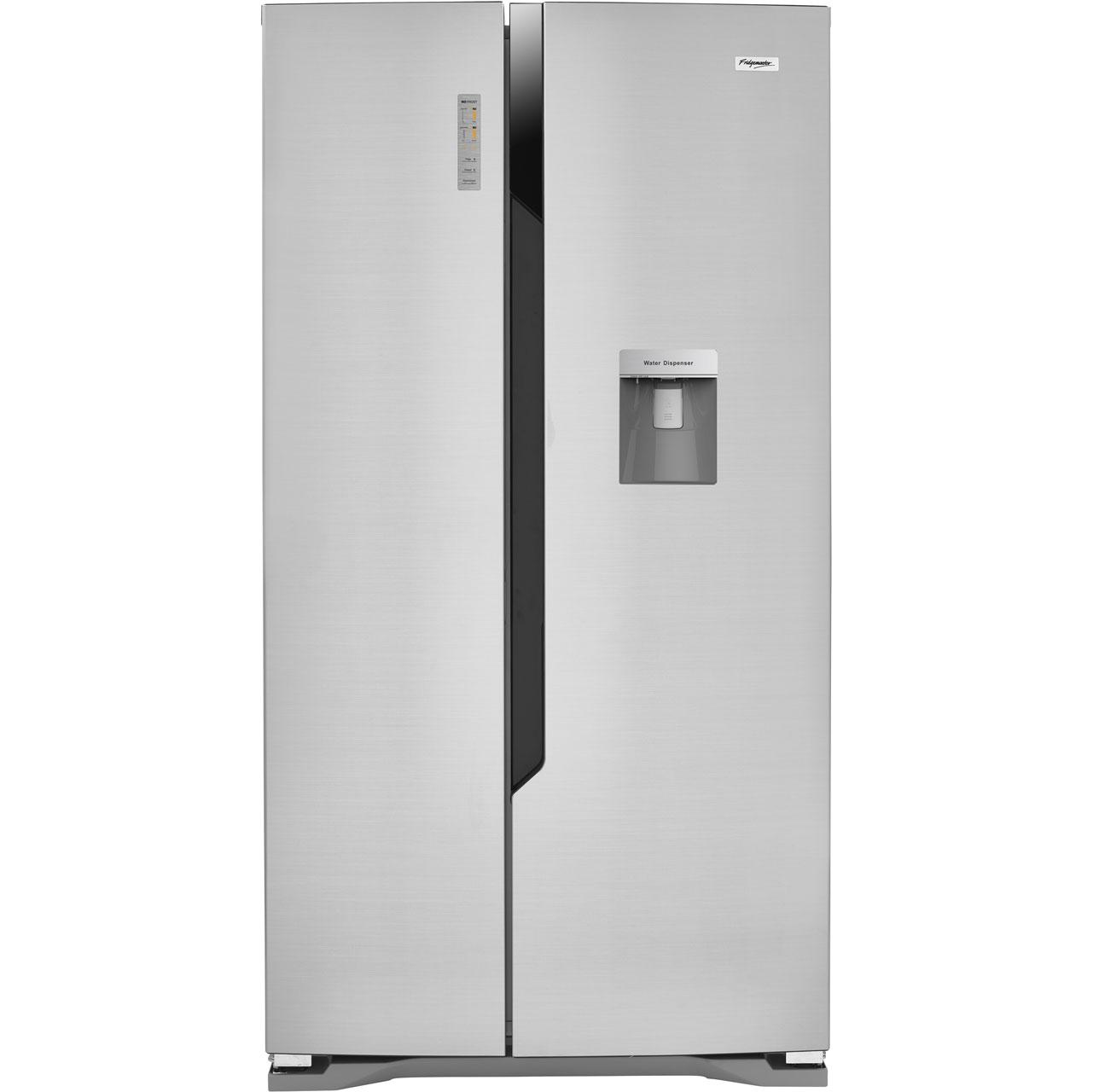 Fridgemaster MS91515DFF Free Standing American Fridge Freezer in Silver