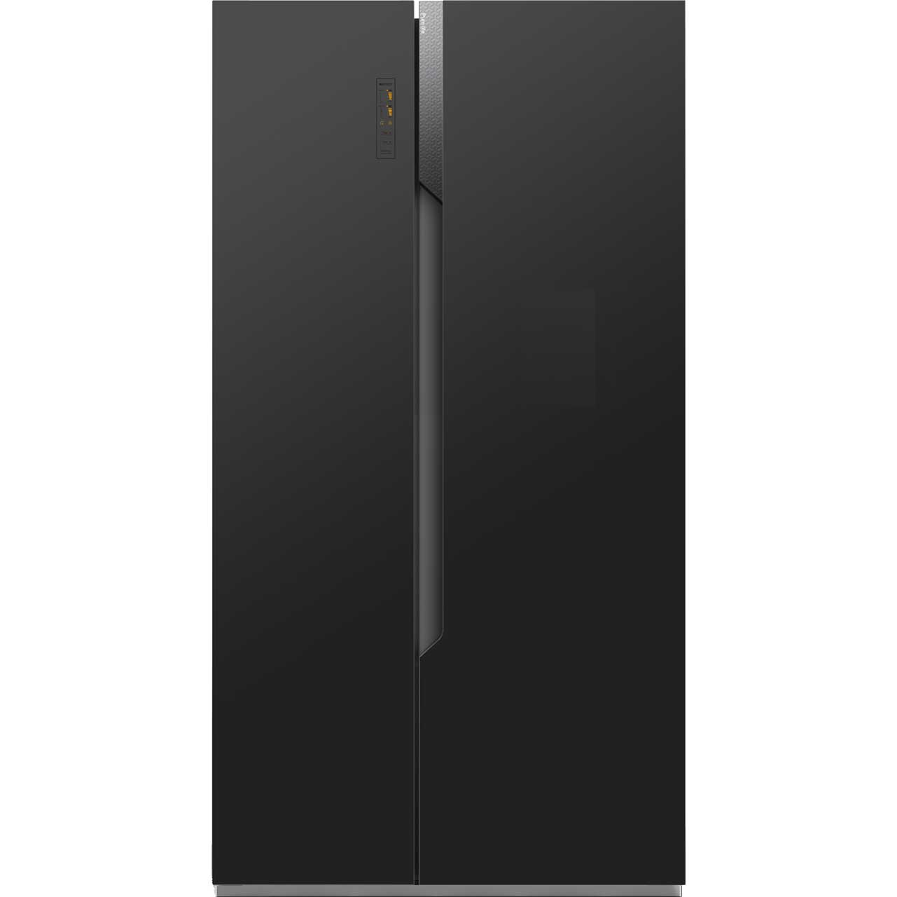 Fridgemaster MS91518FFB Free Standing American Fridge Freezer in Black